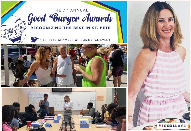"""Wendy Wesley, RDN nominated for a St. Petersburg Chamber of Commerce """"Good Burger"""" award."""
