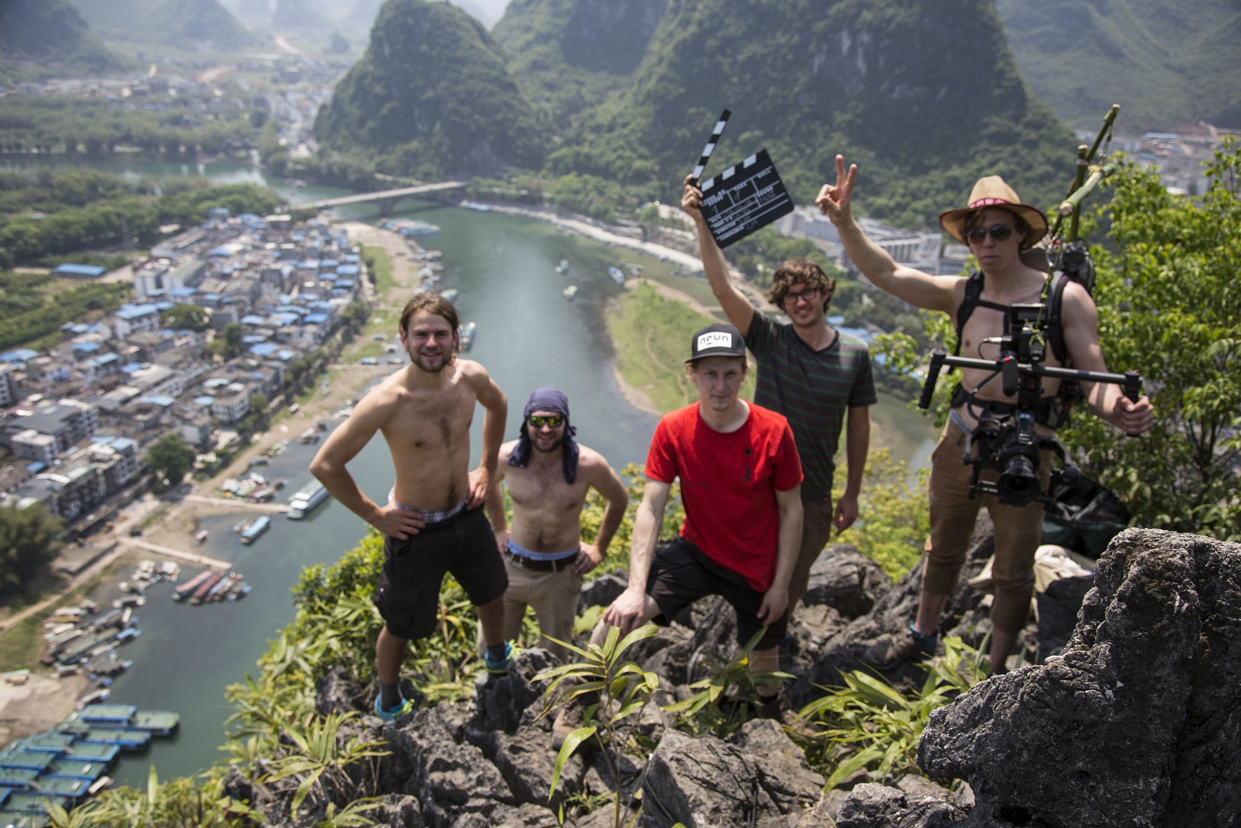 The whole team in  Yangshuo , shooting for Redbull in 2015.