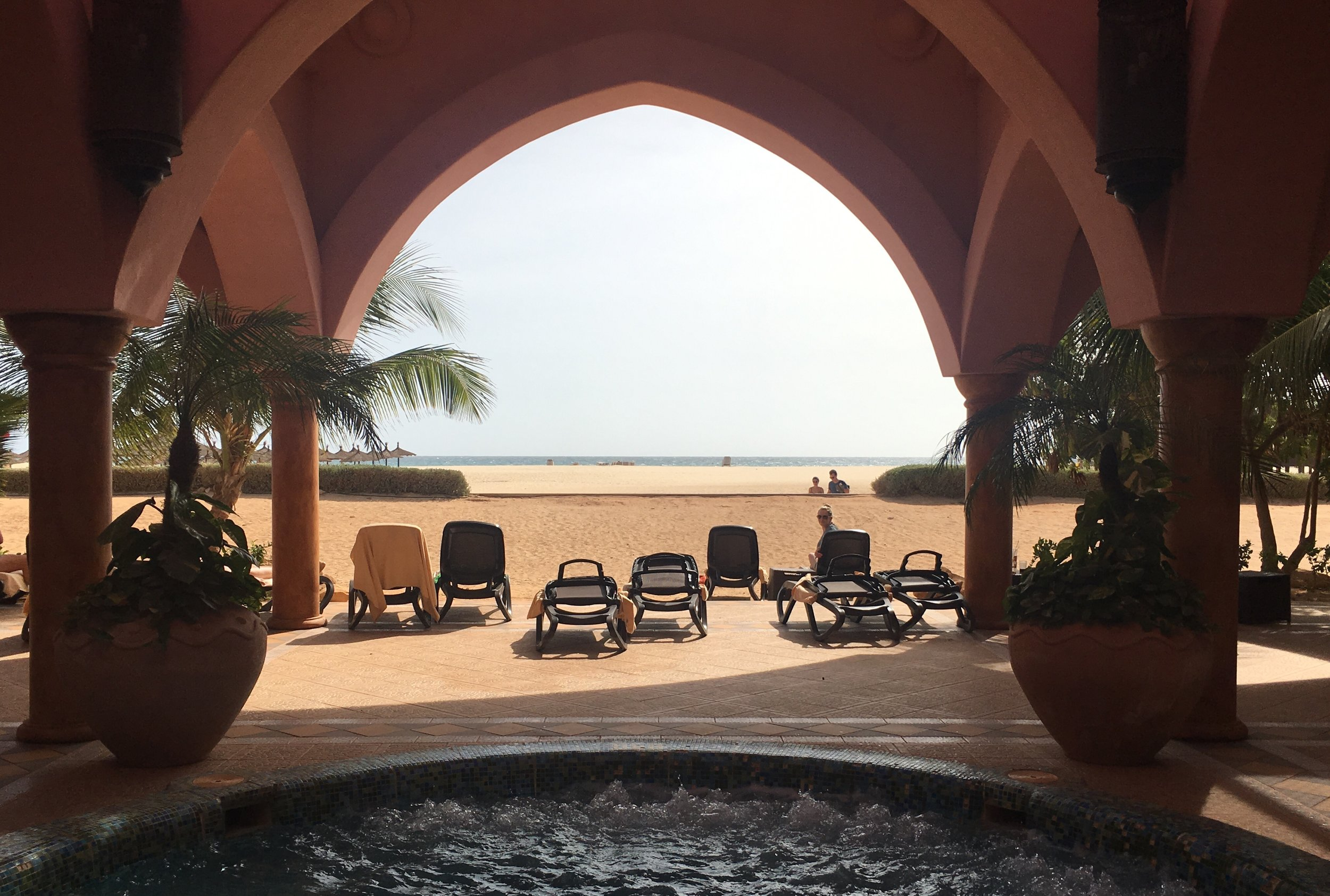 View from the Whirlpool:Riu Touareg Hotel, Cape Verde