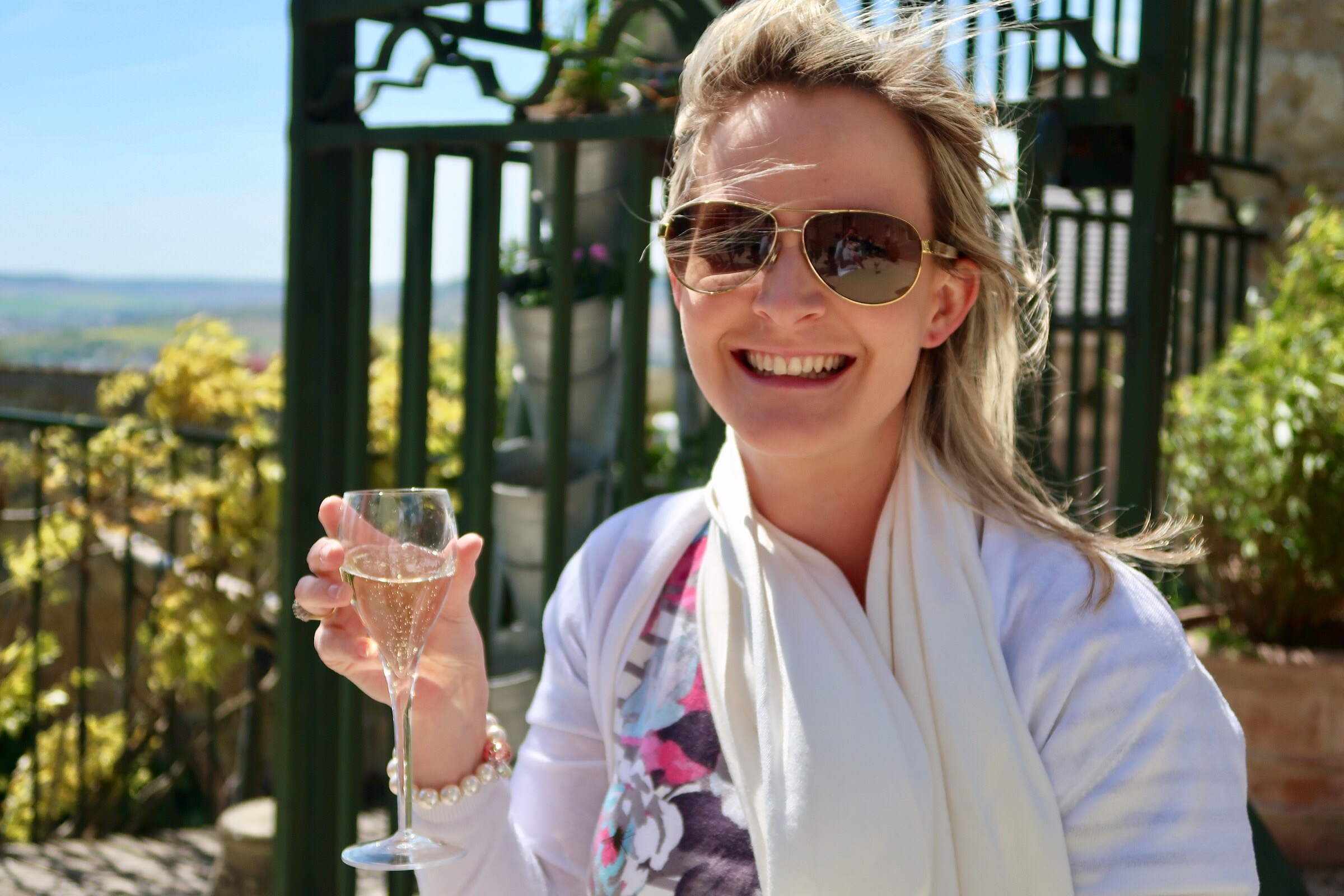 My happy face in my happy place - Hautvillers, Champagne region