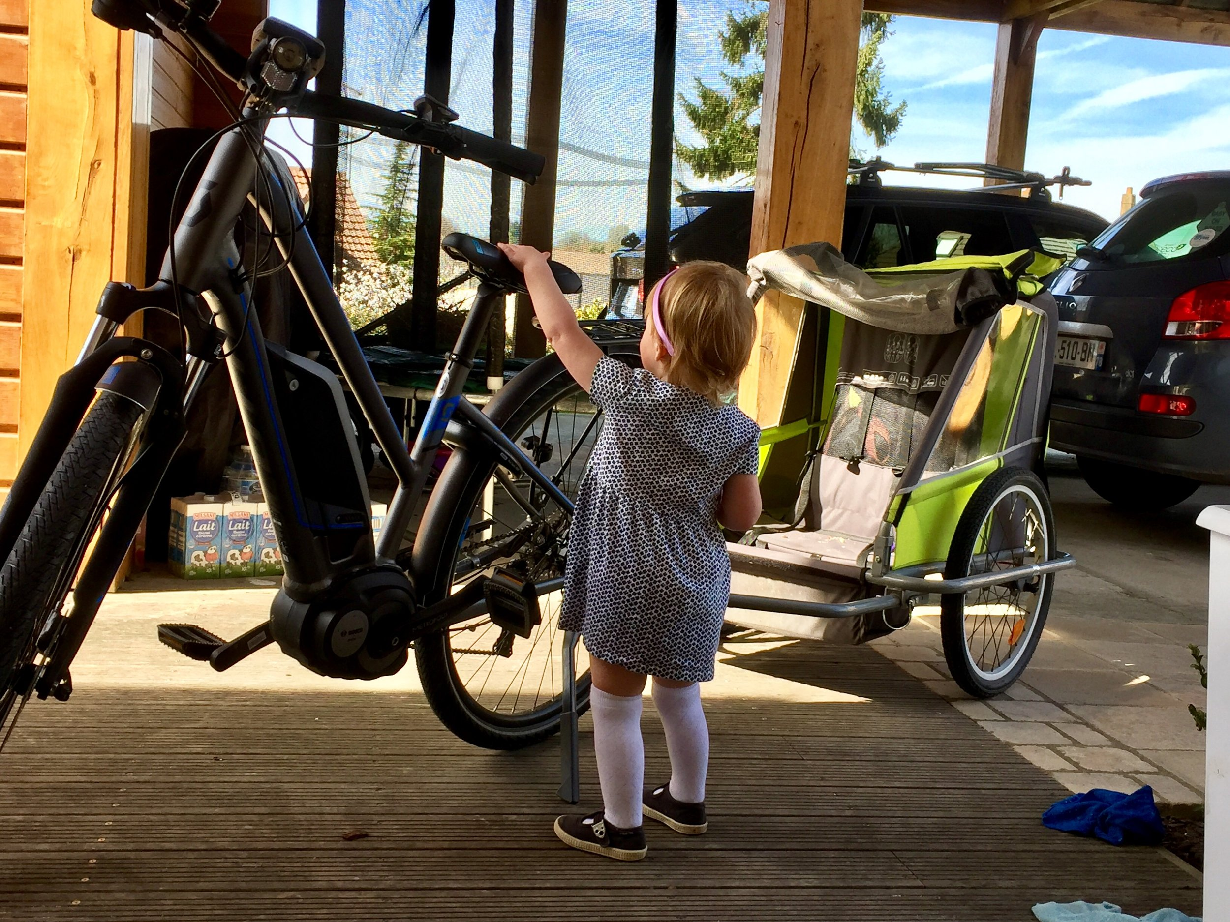 I think the kids love my E-sub Tour bike as much as I do