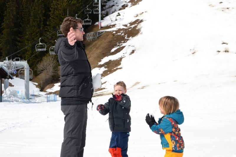Snow ball fights!