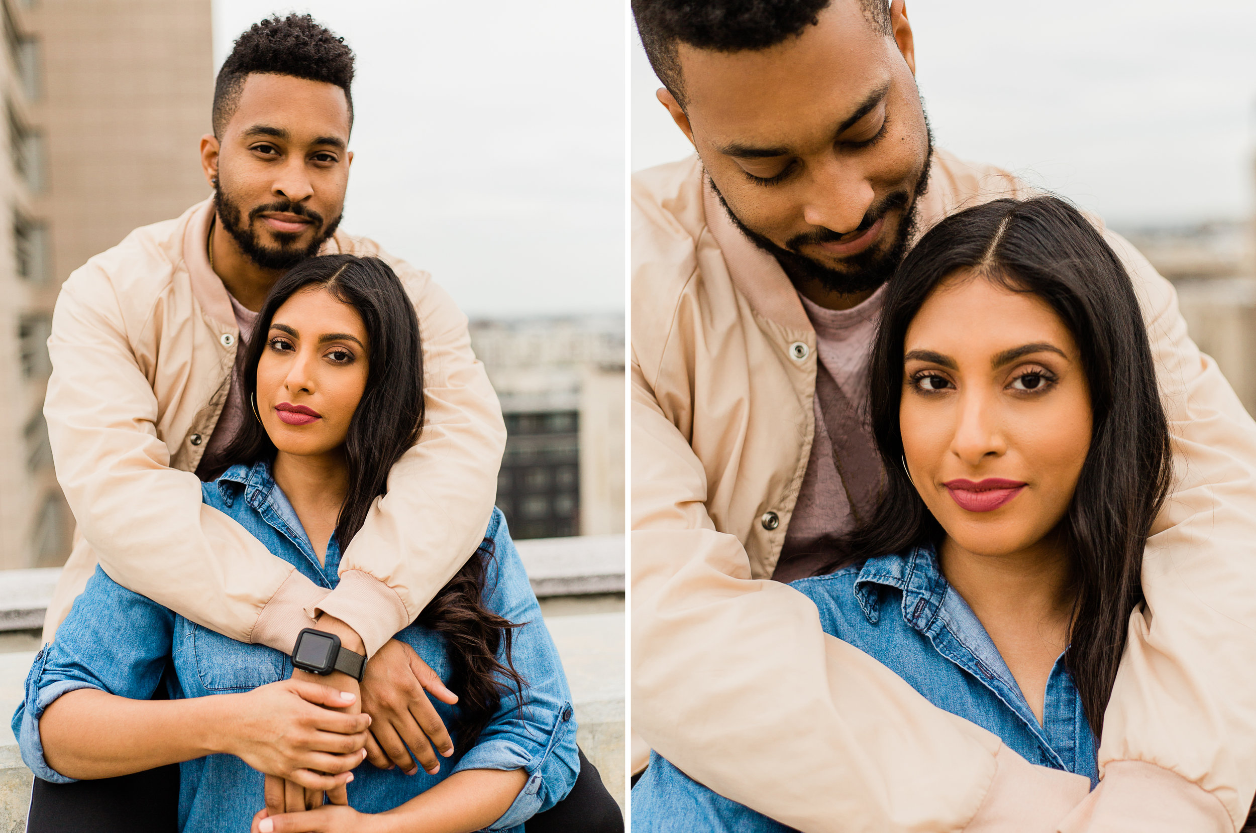 Downtown Los Angeles Rooftop Couple Shoot.jpg