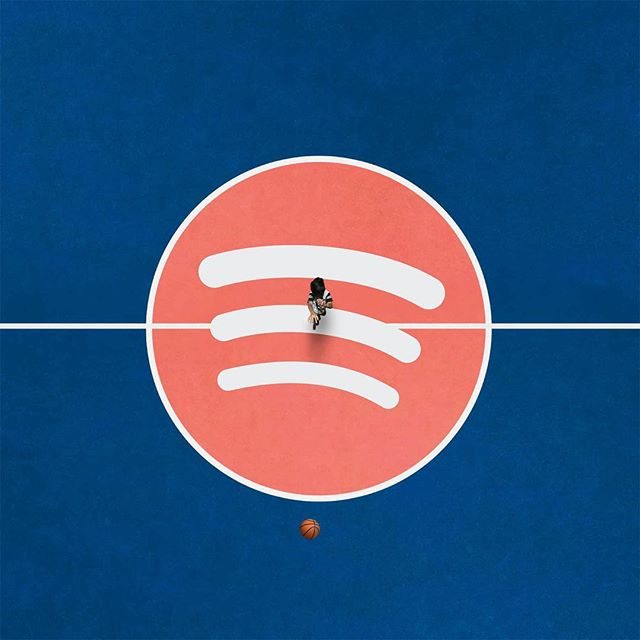 Ball so hard, this playlist crazy. 🏀 → link in story #spotify #newmusicfriday