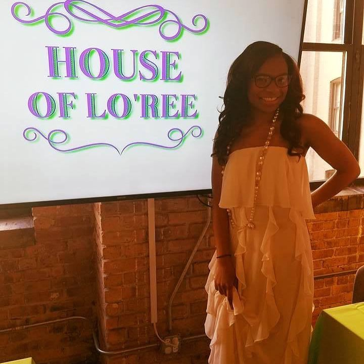 London Purnell at her pop-up shop last month