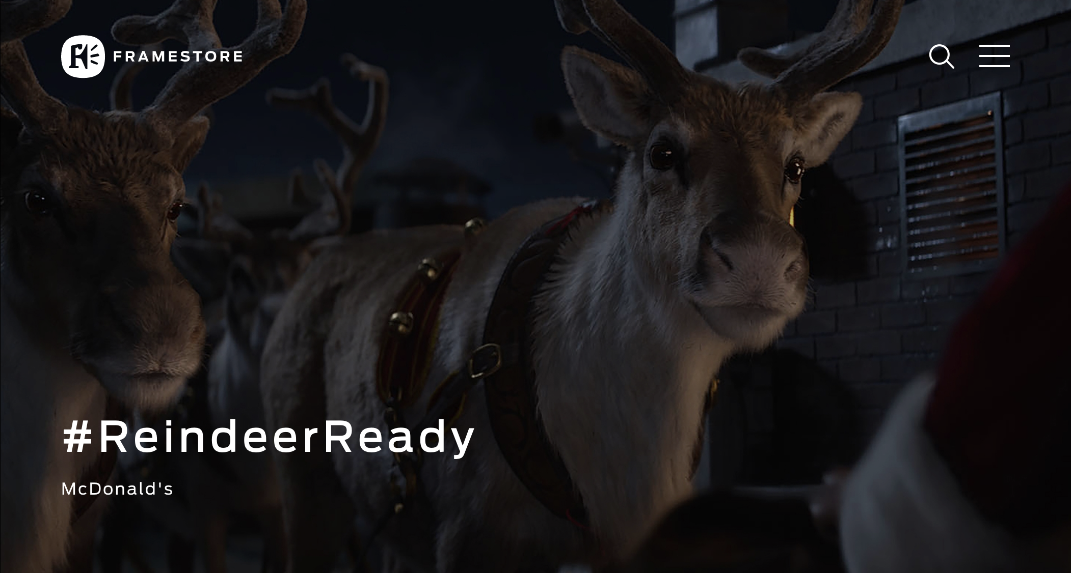 Click the image to watch the ad and read about how Framestore created the reindeer entirely in CG