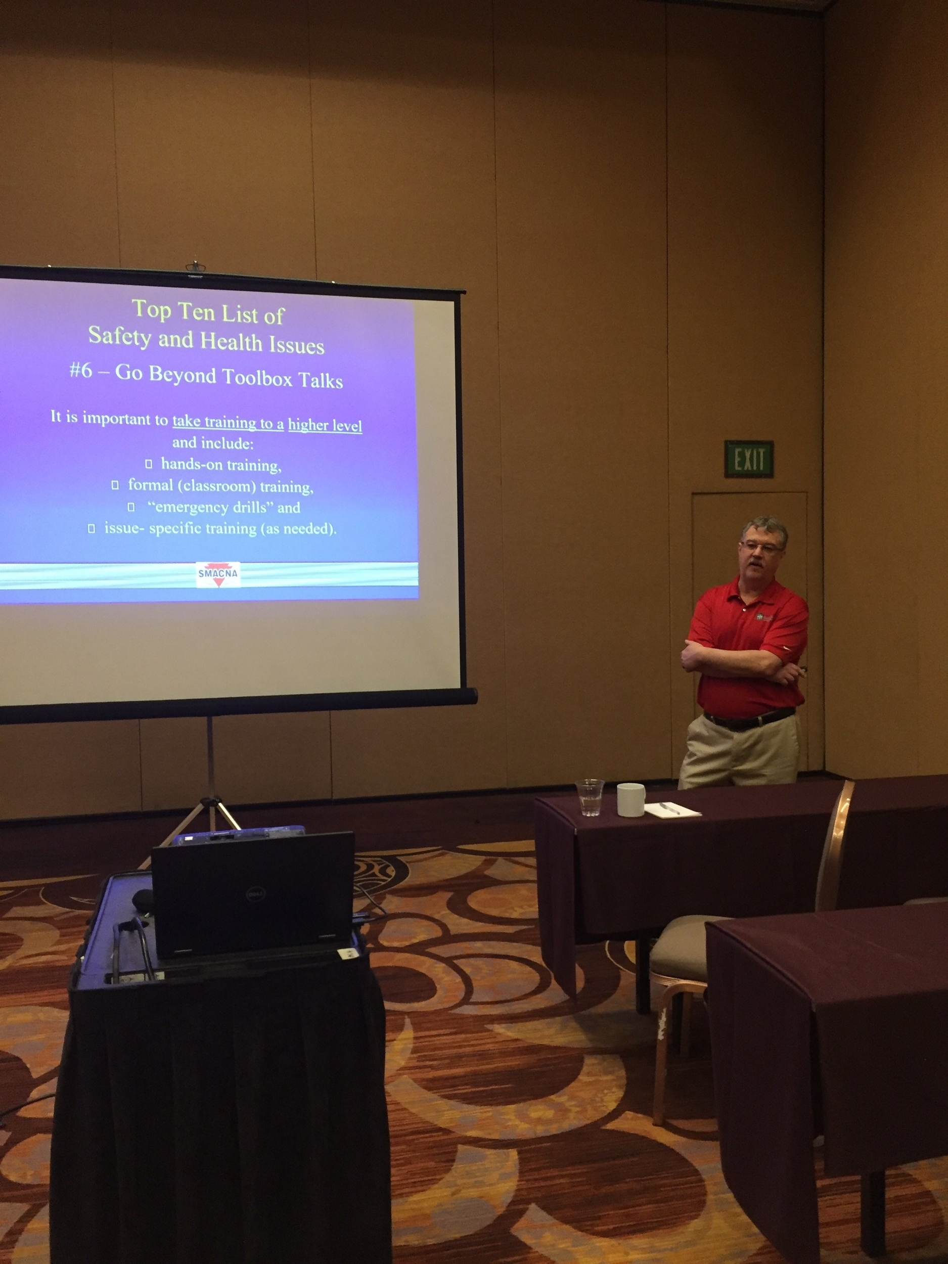 SMACNA Safety Director Mike McCullion presented on how to encourage a safety culture in your company.