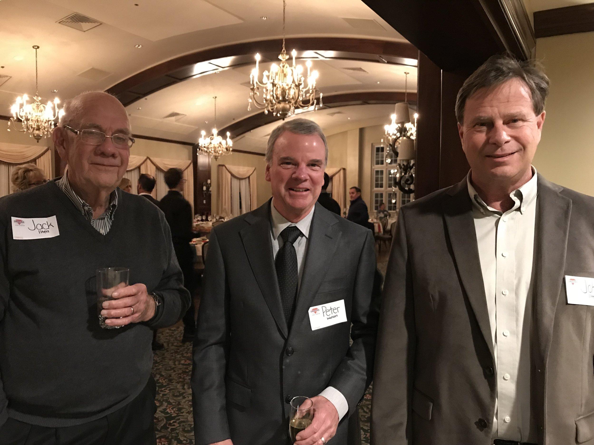 Party goers Jack Ilten, Peter Watson and John Ilten.
