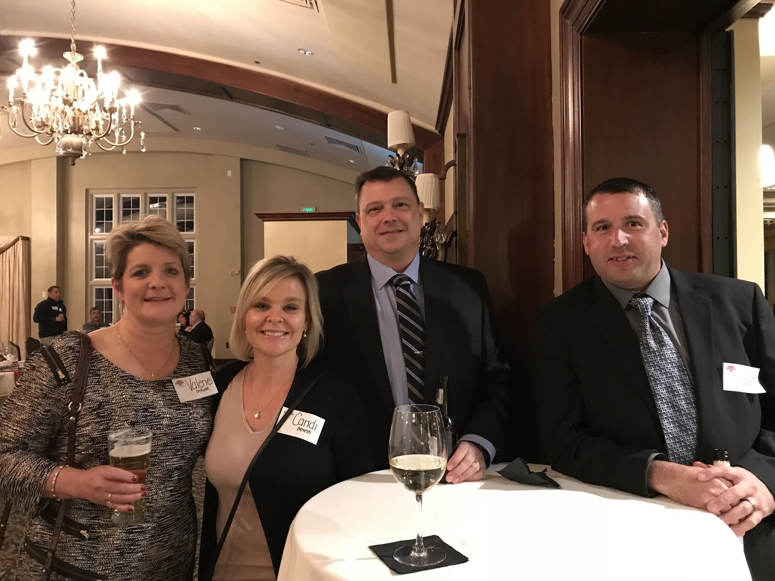 Valerie DeRycke, Candi Benesh, Mark DeRycke, and Jodie Benesh