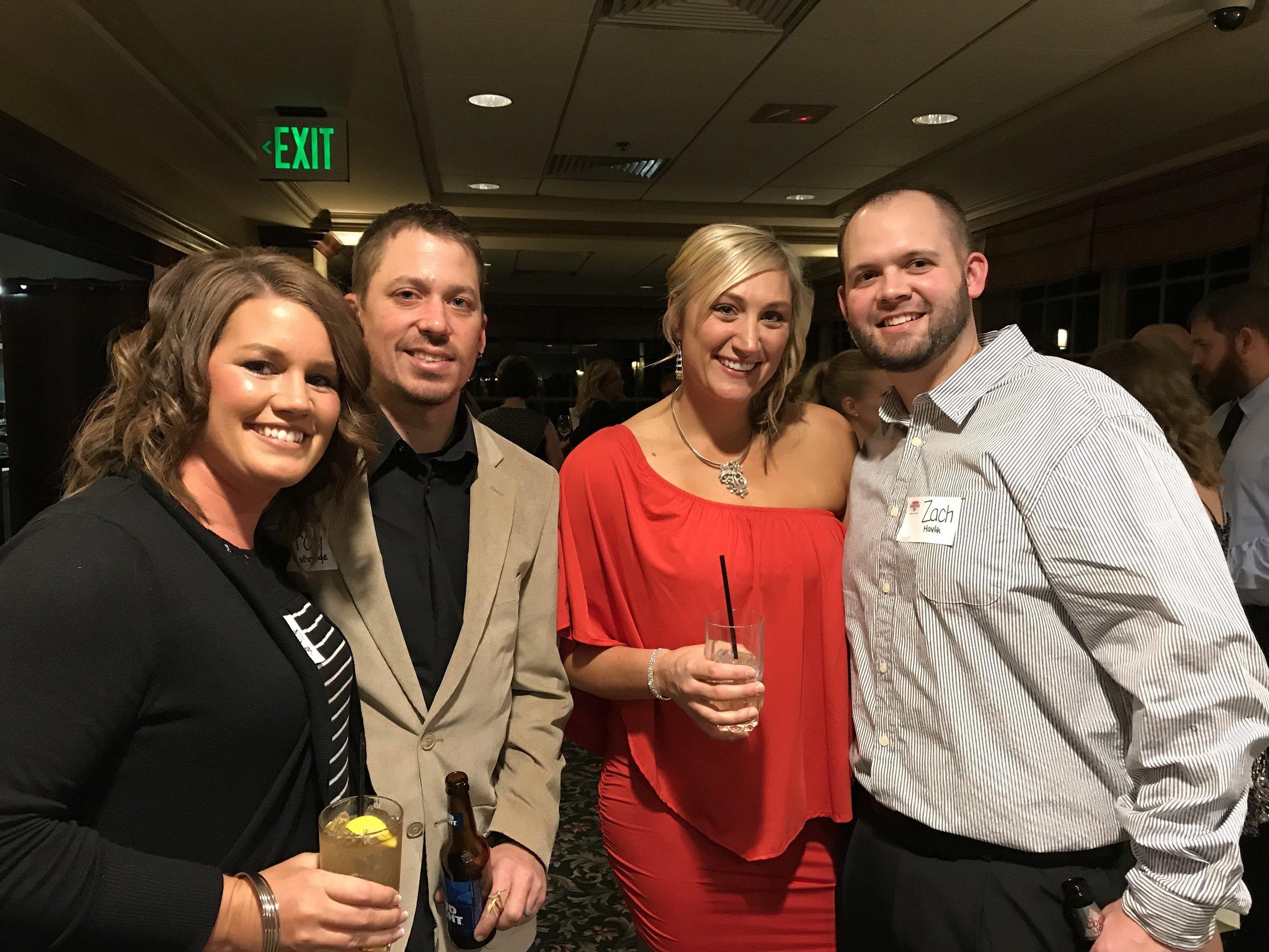 Karen & Troy LaGrange, and Theresa & Zach Havlik.