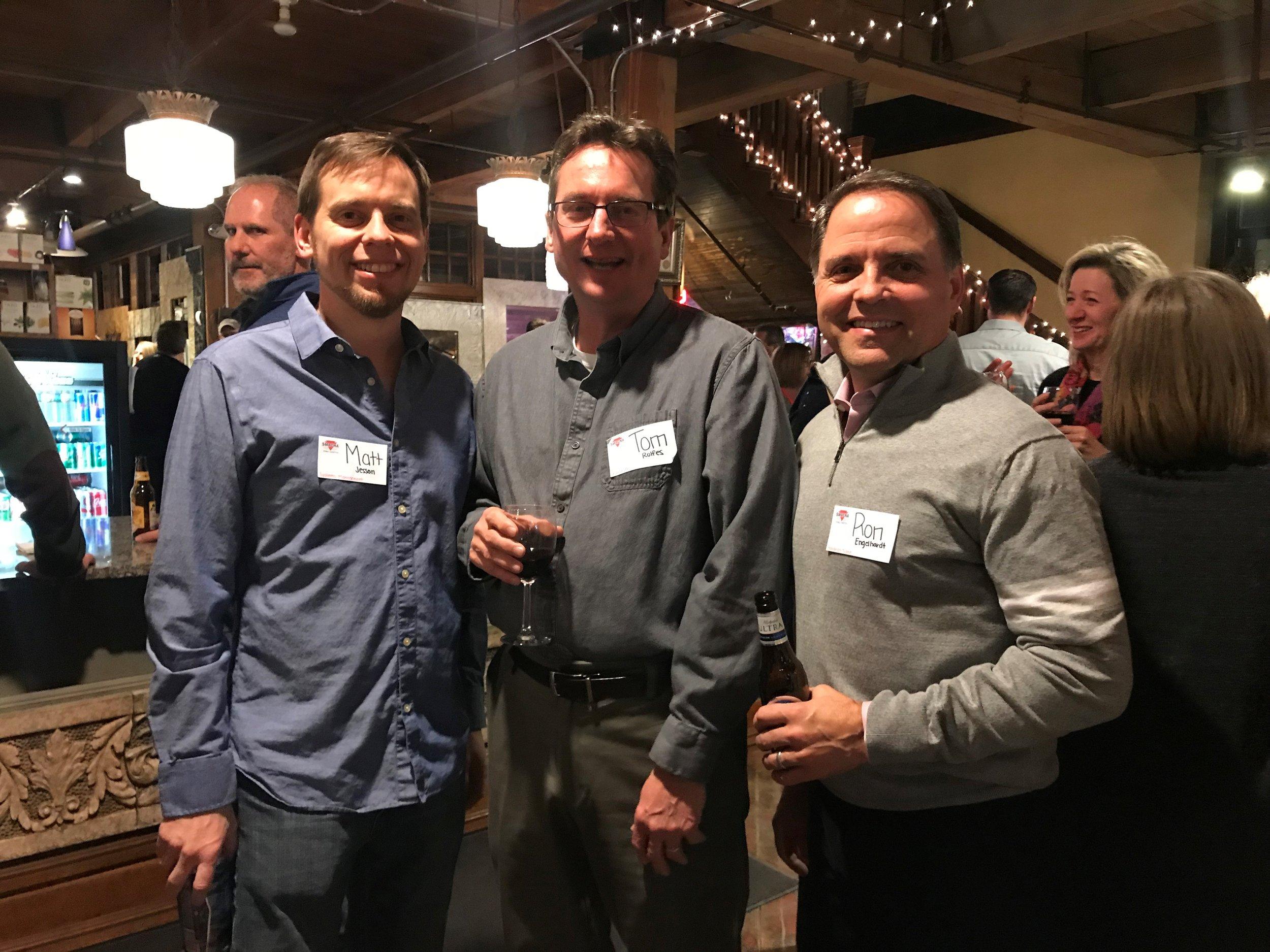 Matt Jesson, Tom Rolfes and Ron Engelhardt