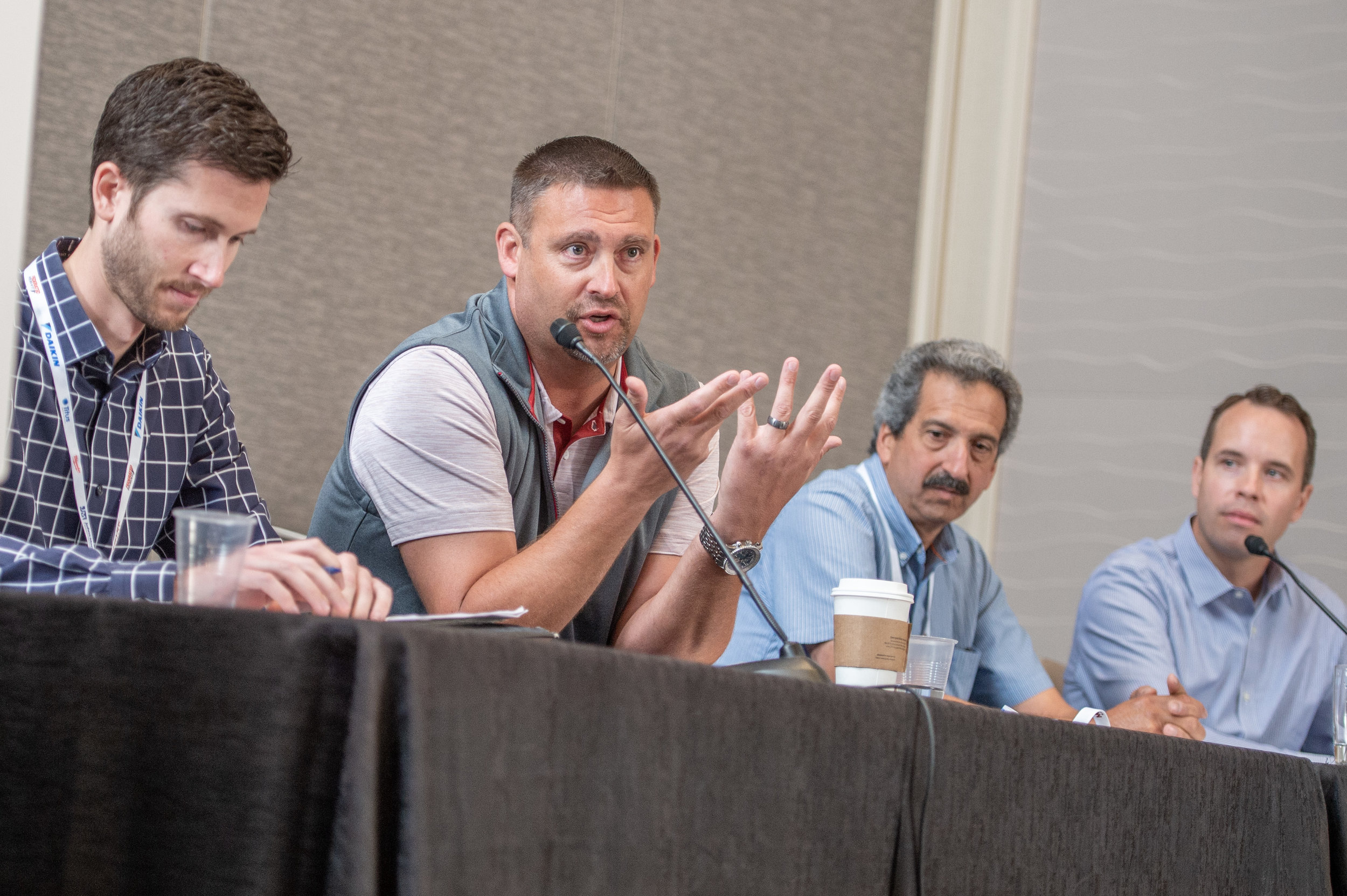 The panel for the HVAC forum had SMCI's Brandon Bratz (The Waldinger Corporation, first seated panelist on the left) and Corey Chestnut (Climate Engineers, last panelist on the right) participating. Great job Brandon and Corey!