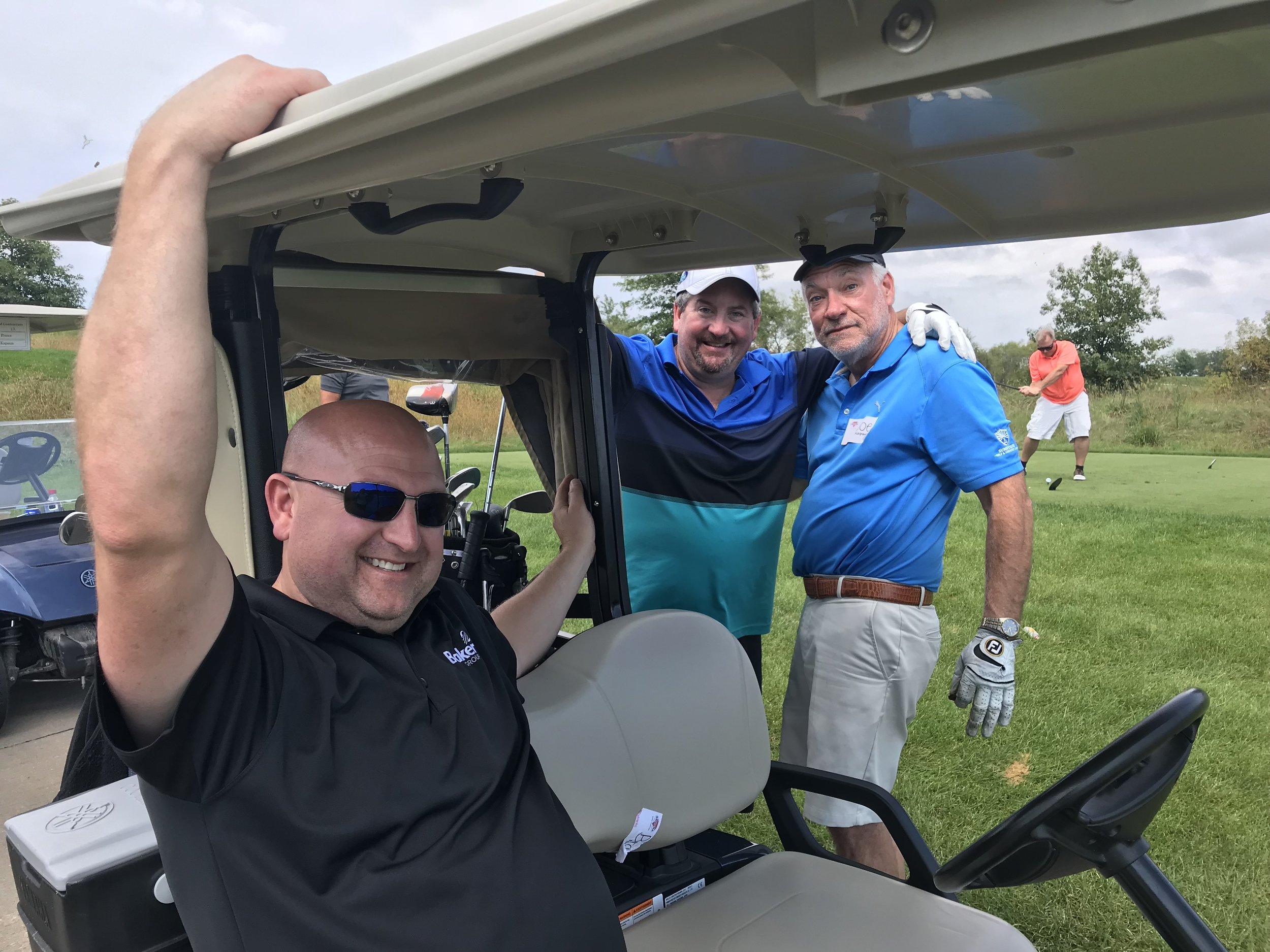 Jeff Jordan, Brad Forret and Joe Kapaun