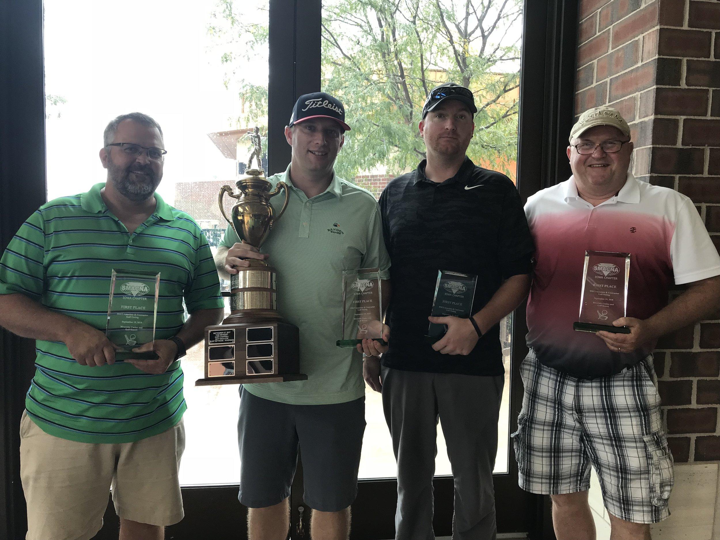 Winners were Jim Kent, Scott Impens, Brandon Snitker and George Grosvenor.