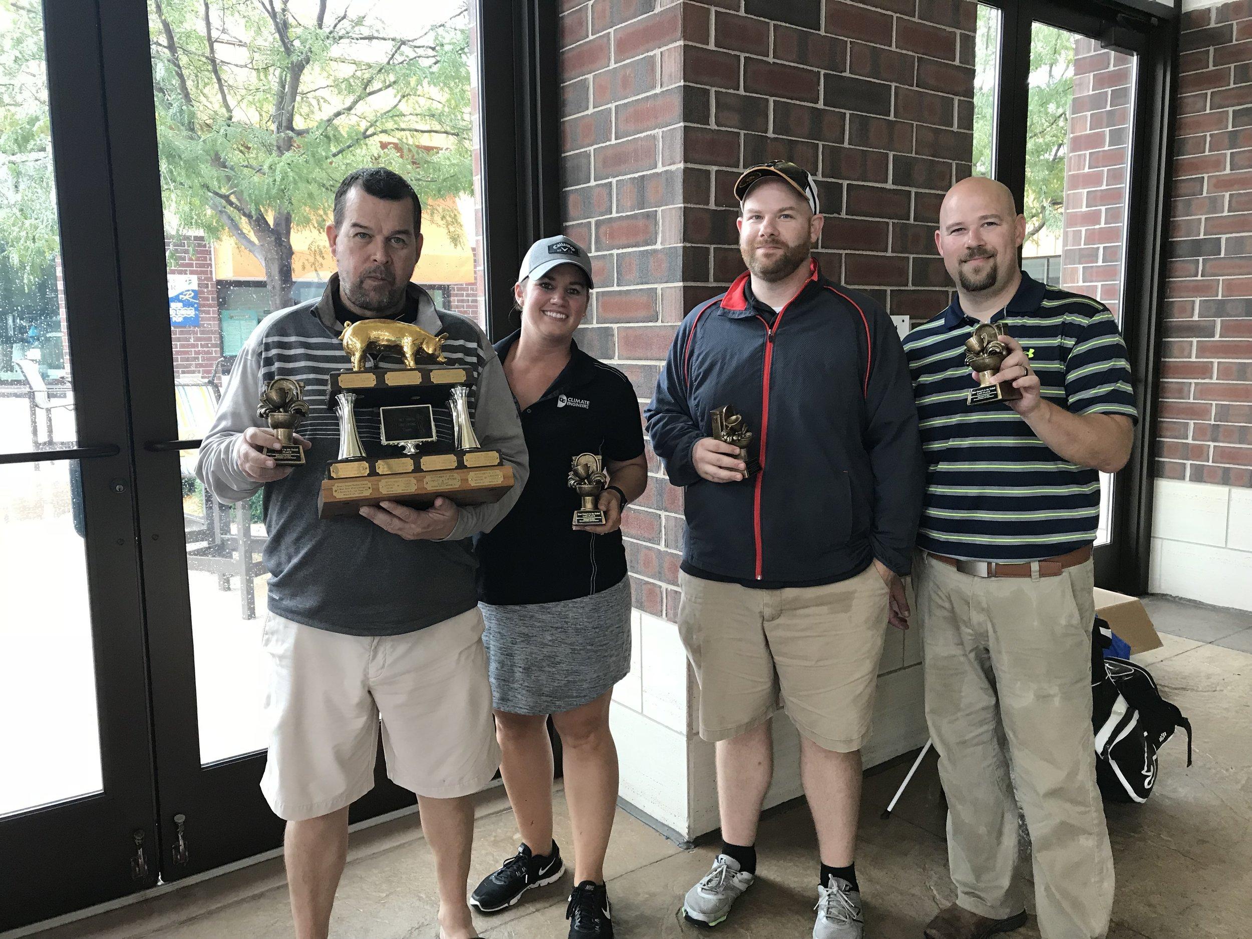 Last place trophy winners were Paul Hartke, Karen LaGrange, Rob Wentzel and Jeff Alkema.