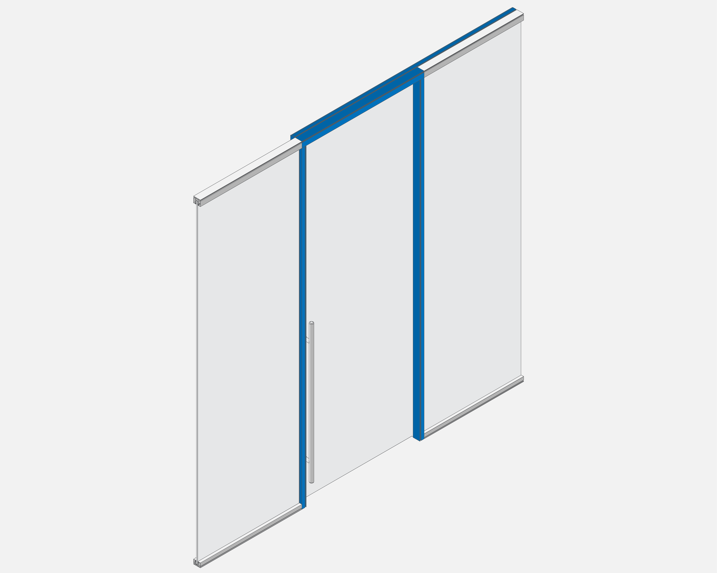 Sliding Door Kit   Kit offered in standard 40 inch width, and heights up to 9 feet.  Included: Cut to height door surround / Slide mechanism and housing / Door retention base / Brush gaskets  Designed for 3/8 inch glass