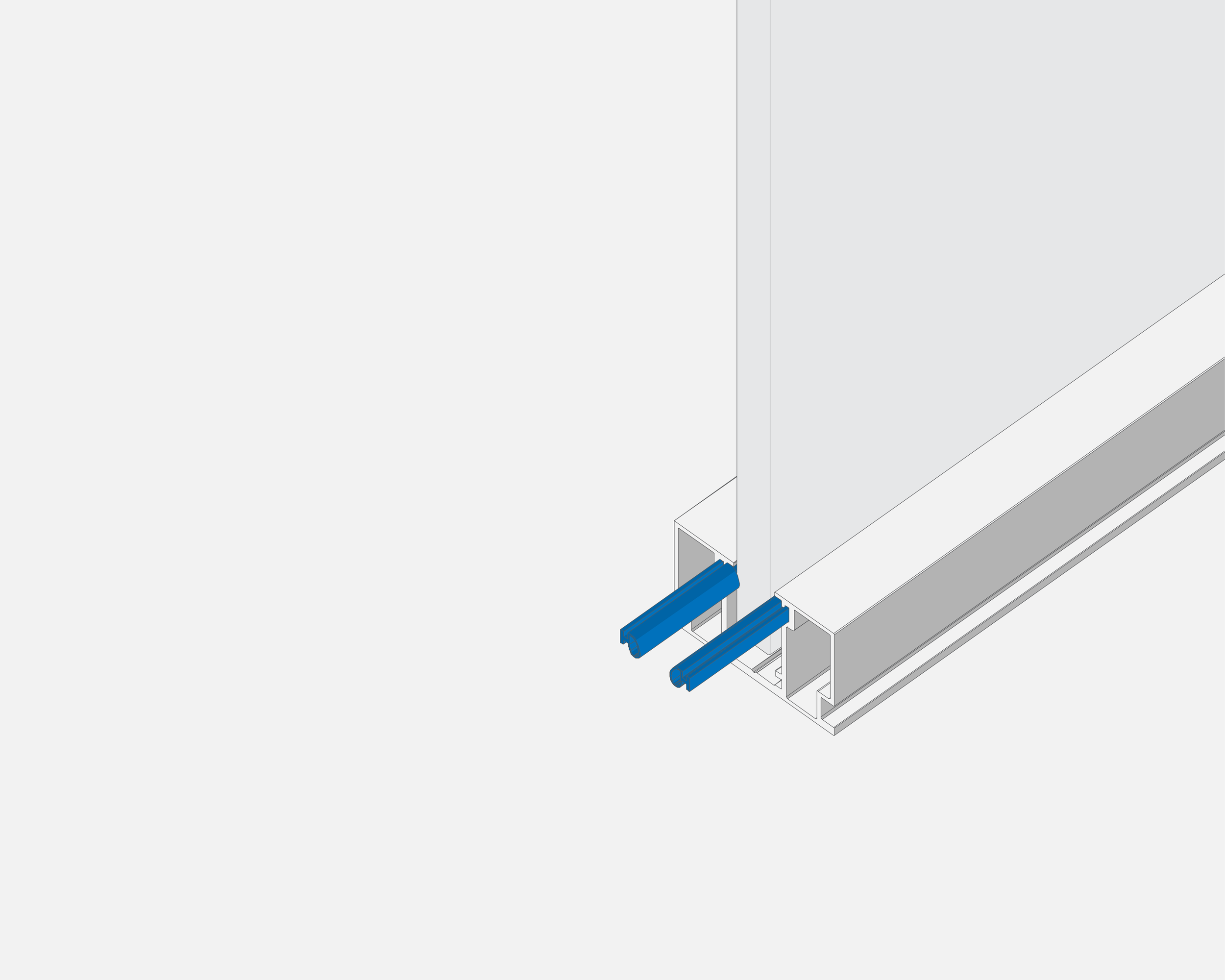Acoustic Features  - Integrated Gaskets for fixed glass. Integrated door seal compression gasket