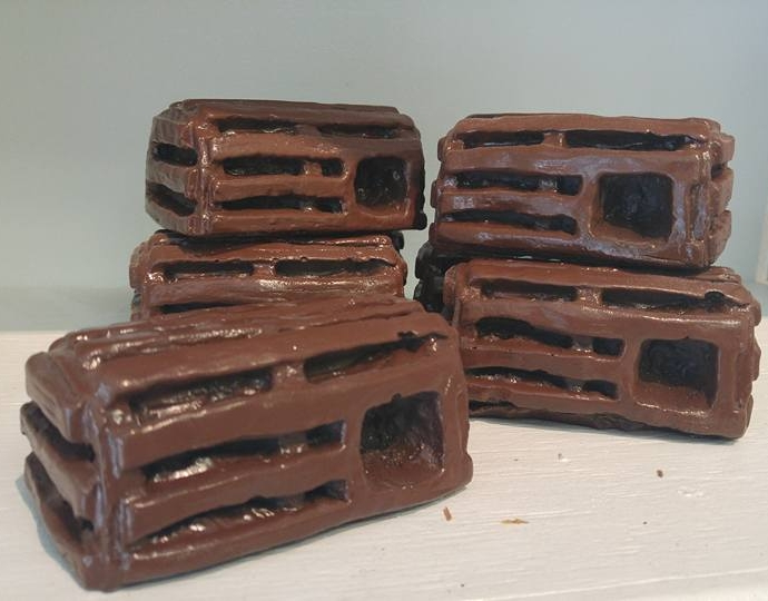 """""""Little Lobster Traps"""" 2015  Plaster and spray paint"""