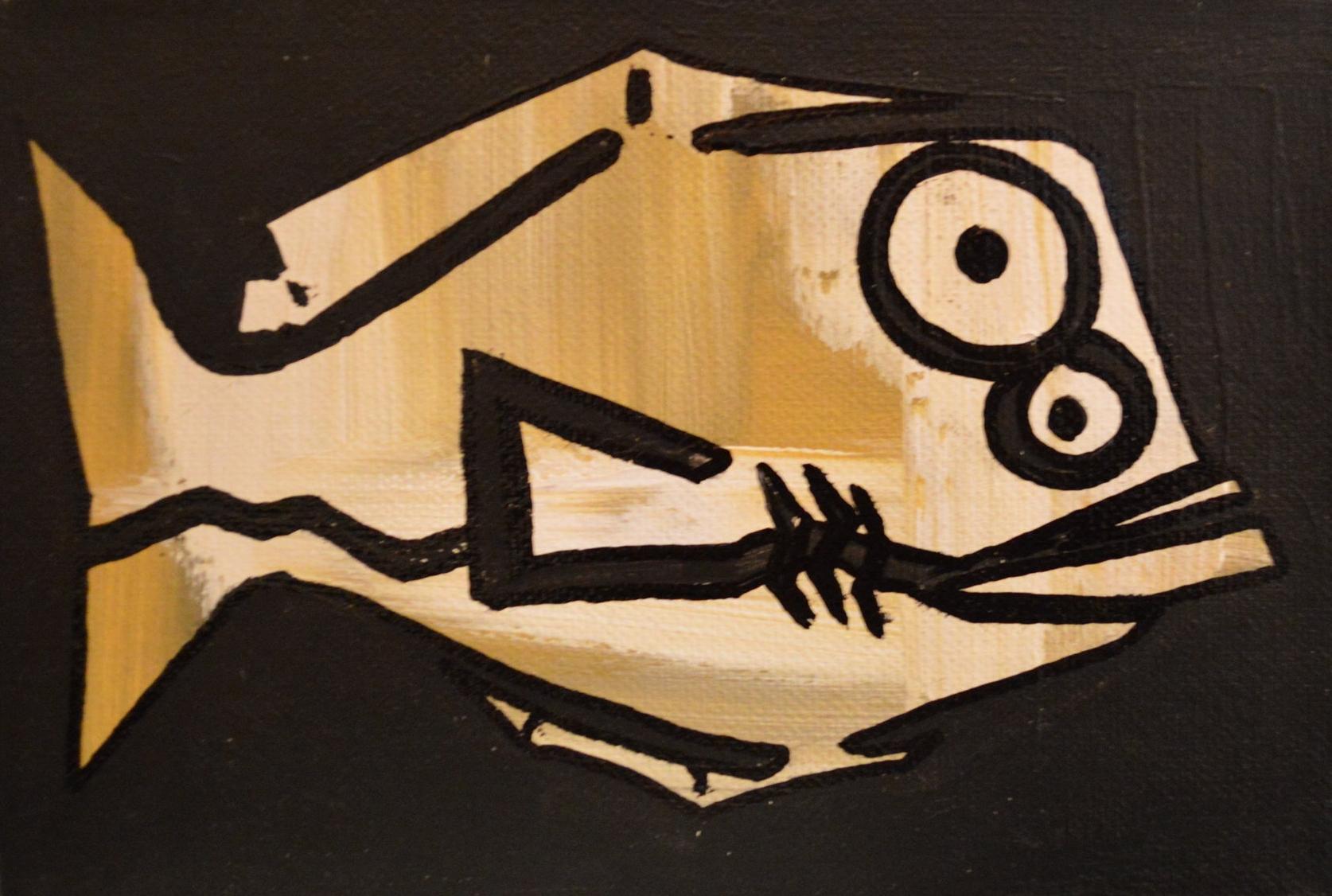 """Flounder"" 2012  Acrylic paint and oil based pen on canvas"
