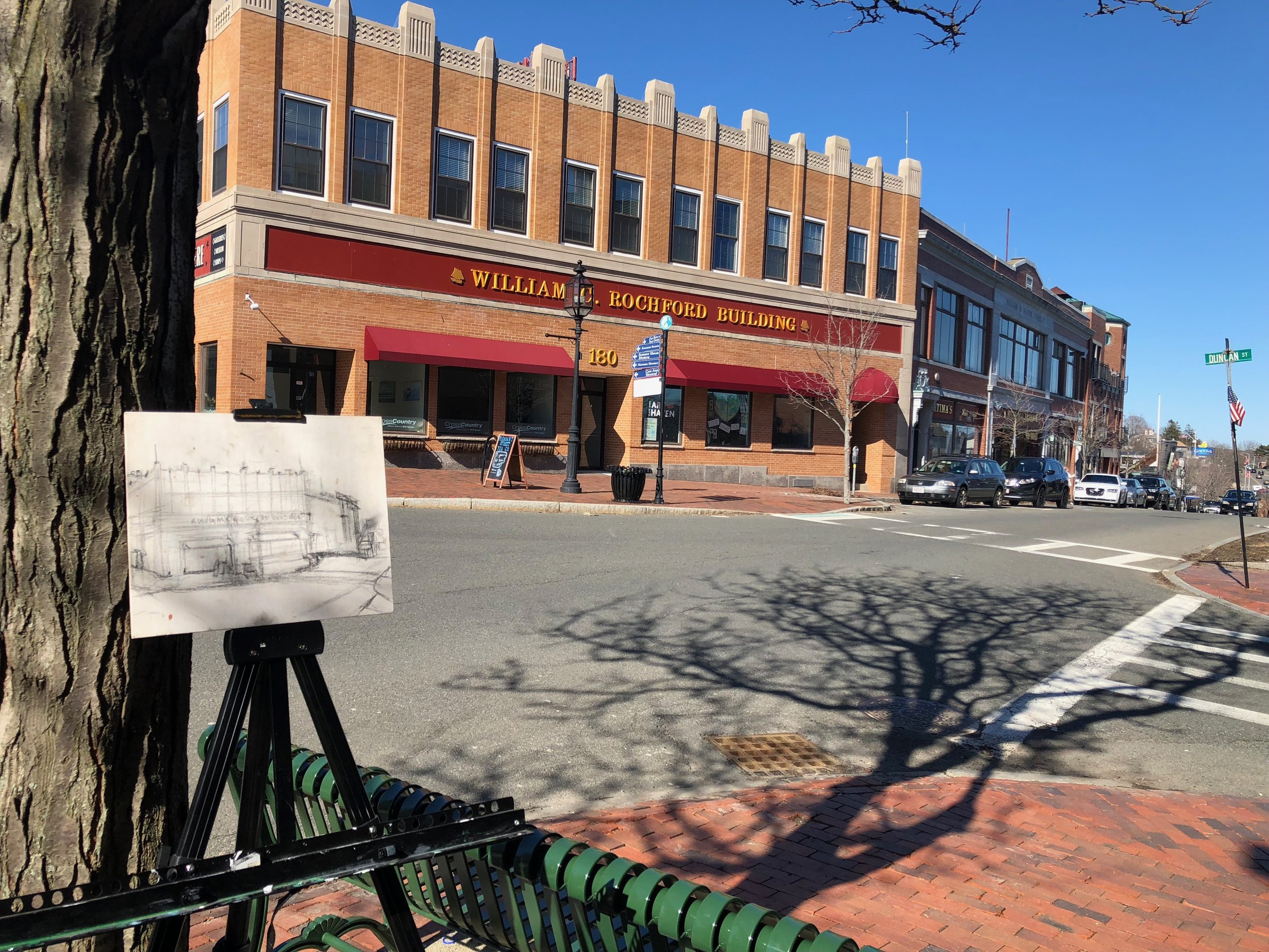 Out sketching on main street