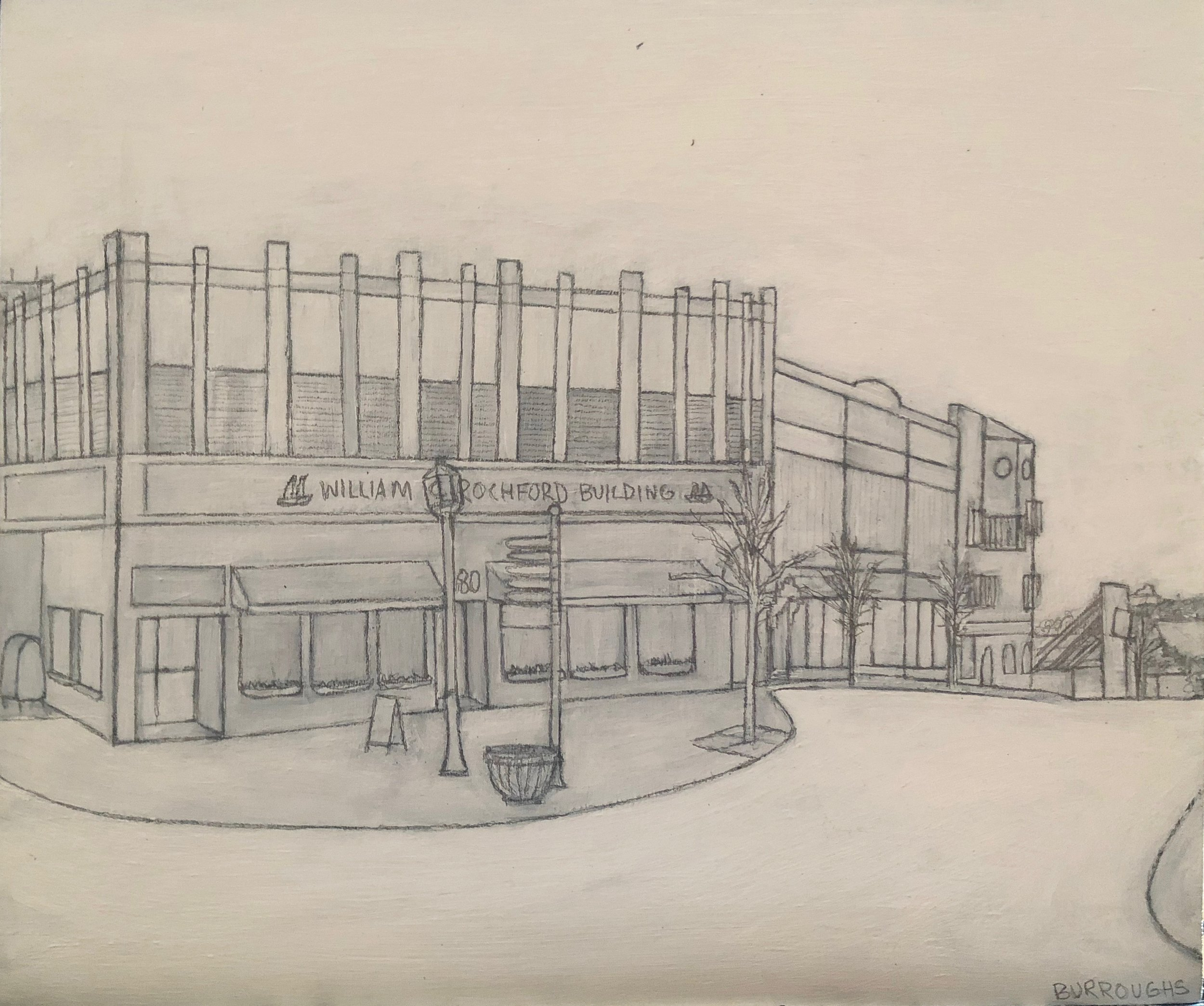 First sketch of Action inc. building
