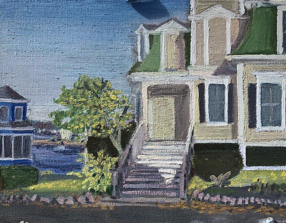 """""""Hopper House"""" 2019  11"""" x 14""""  Oil on Linen"""