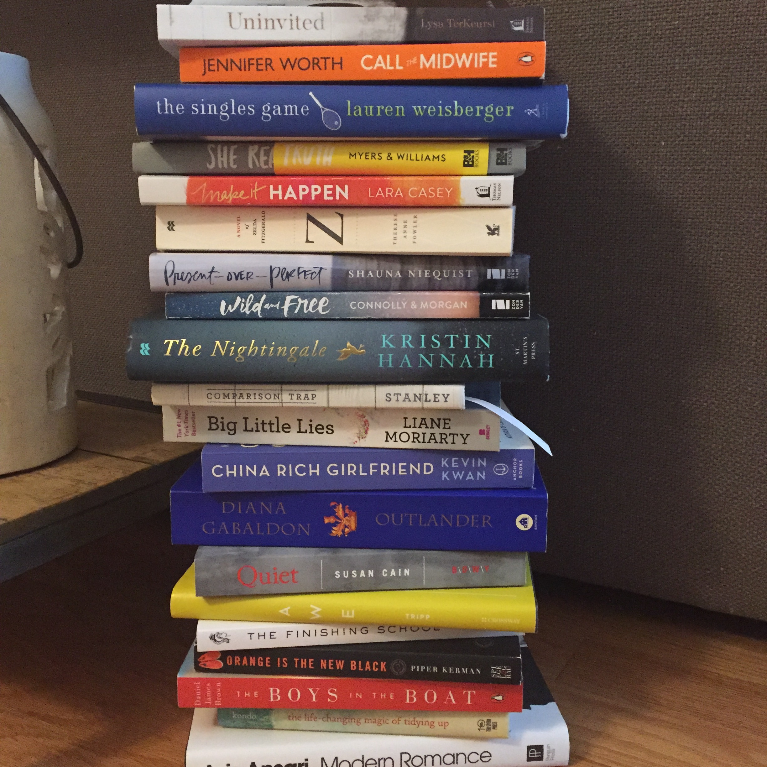 A few of the books I read in 2016