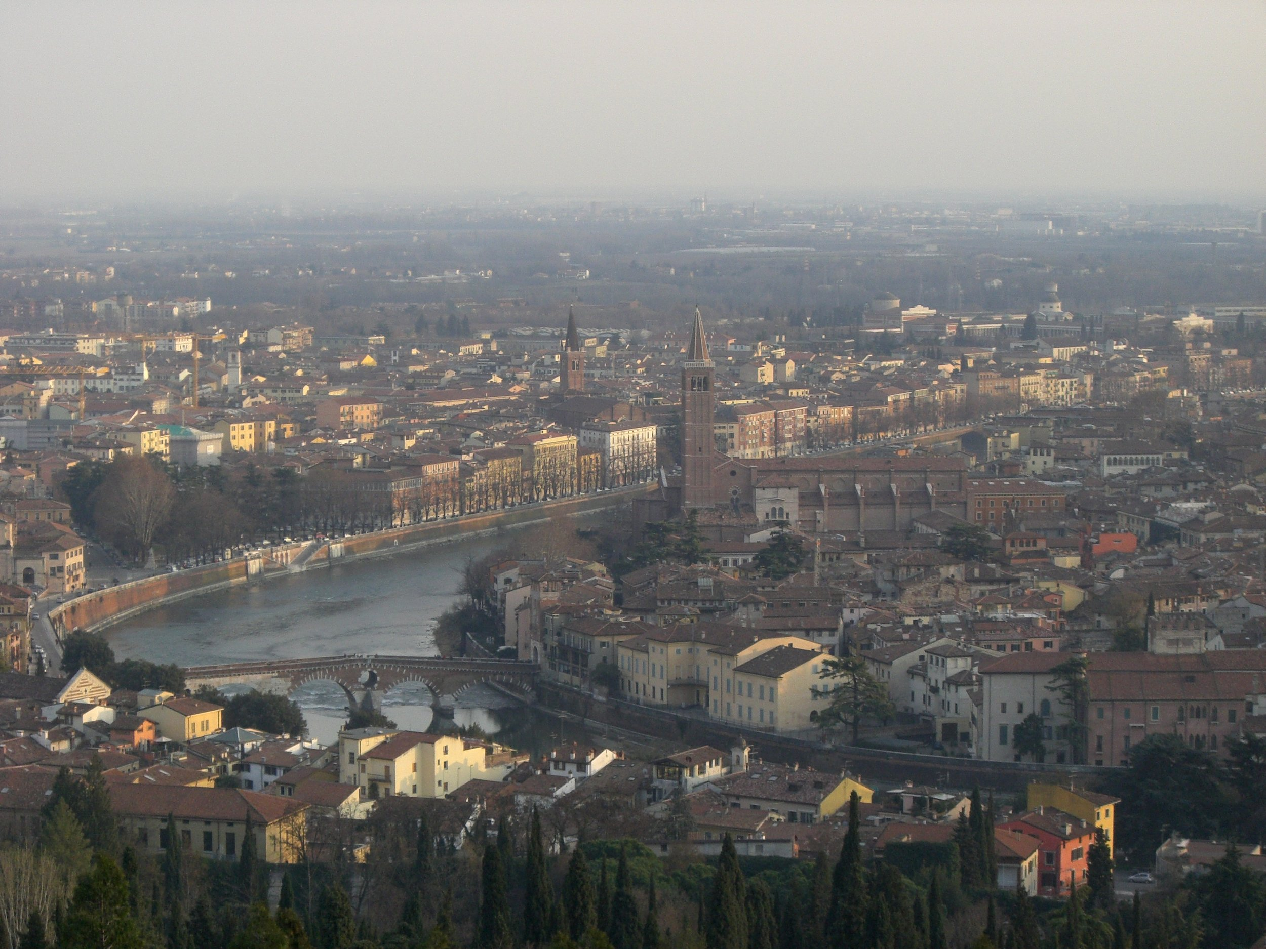 the view from Castel San Pietro