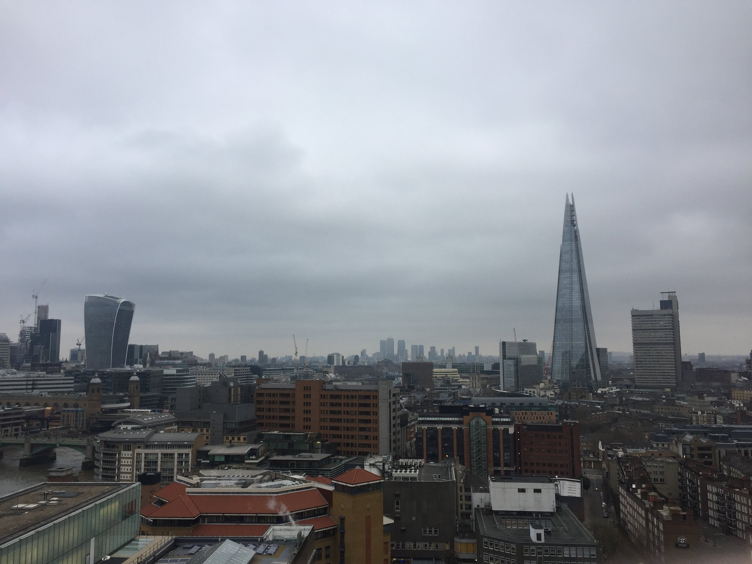 View from the 10th floor of the Tate Modern