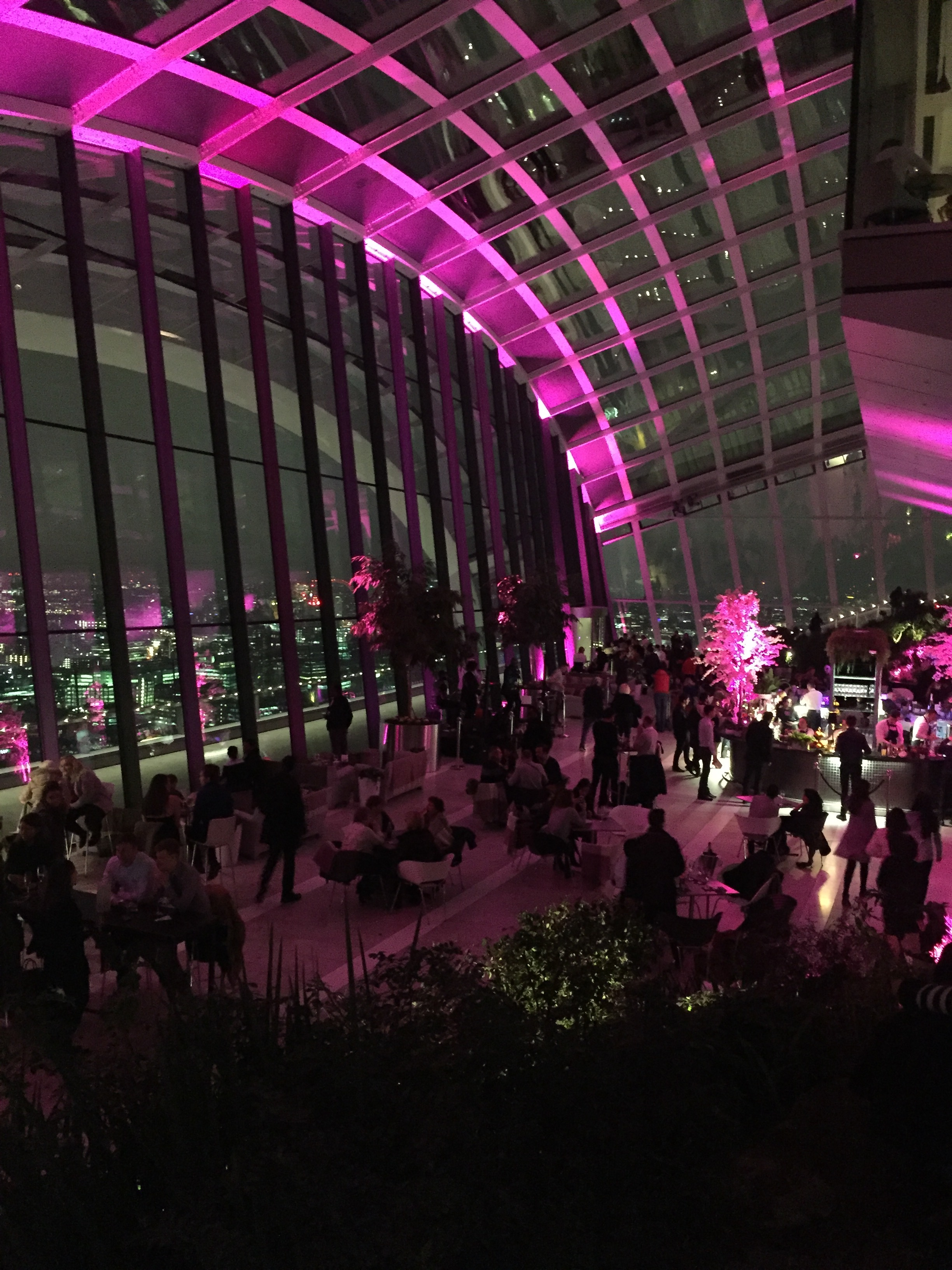 SkyGarden at night