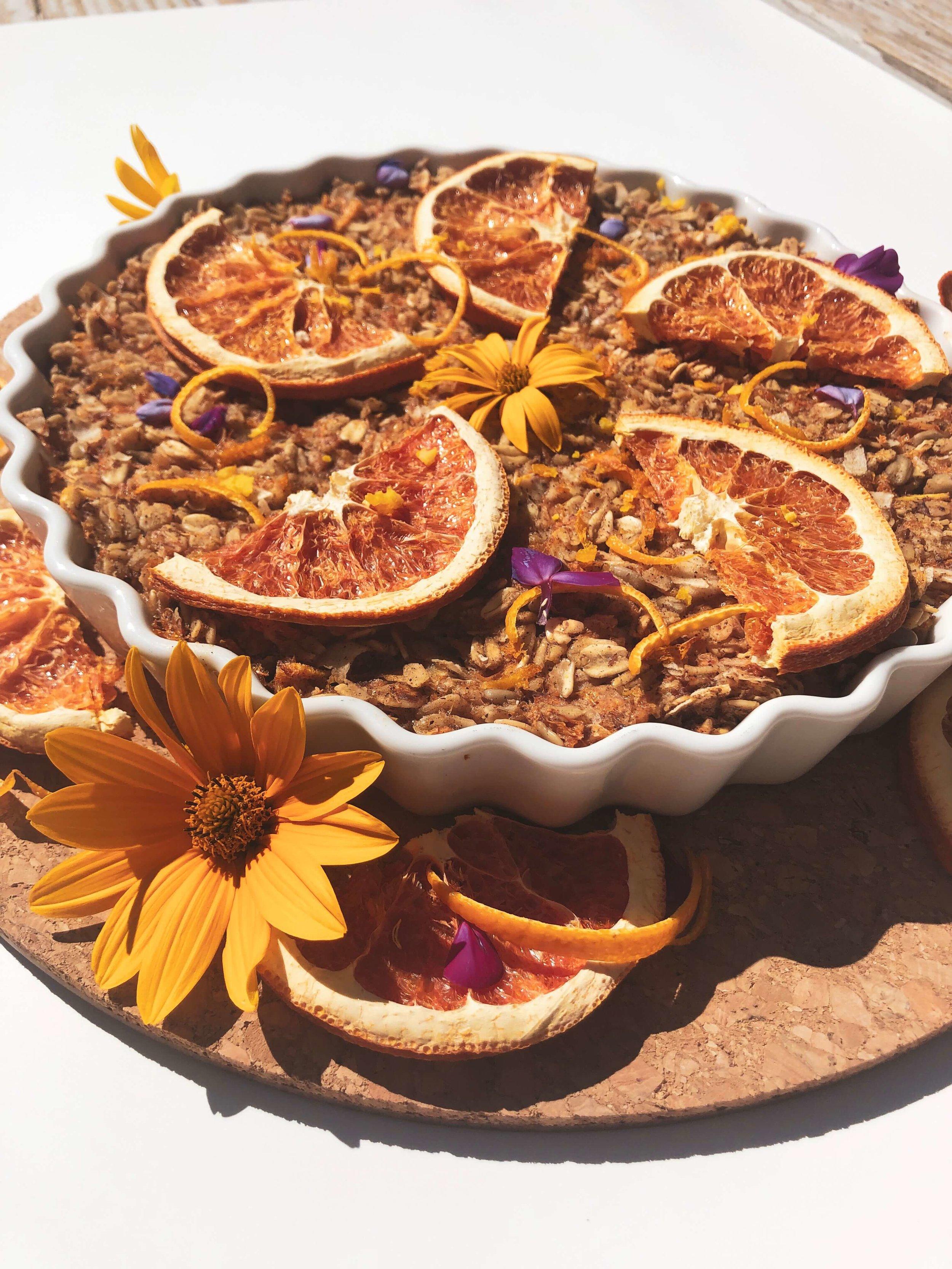 Cardamom + Orange Baked Oatmeal