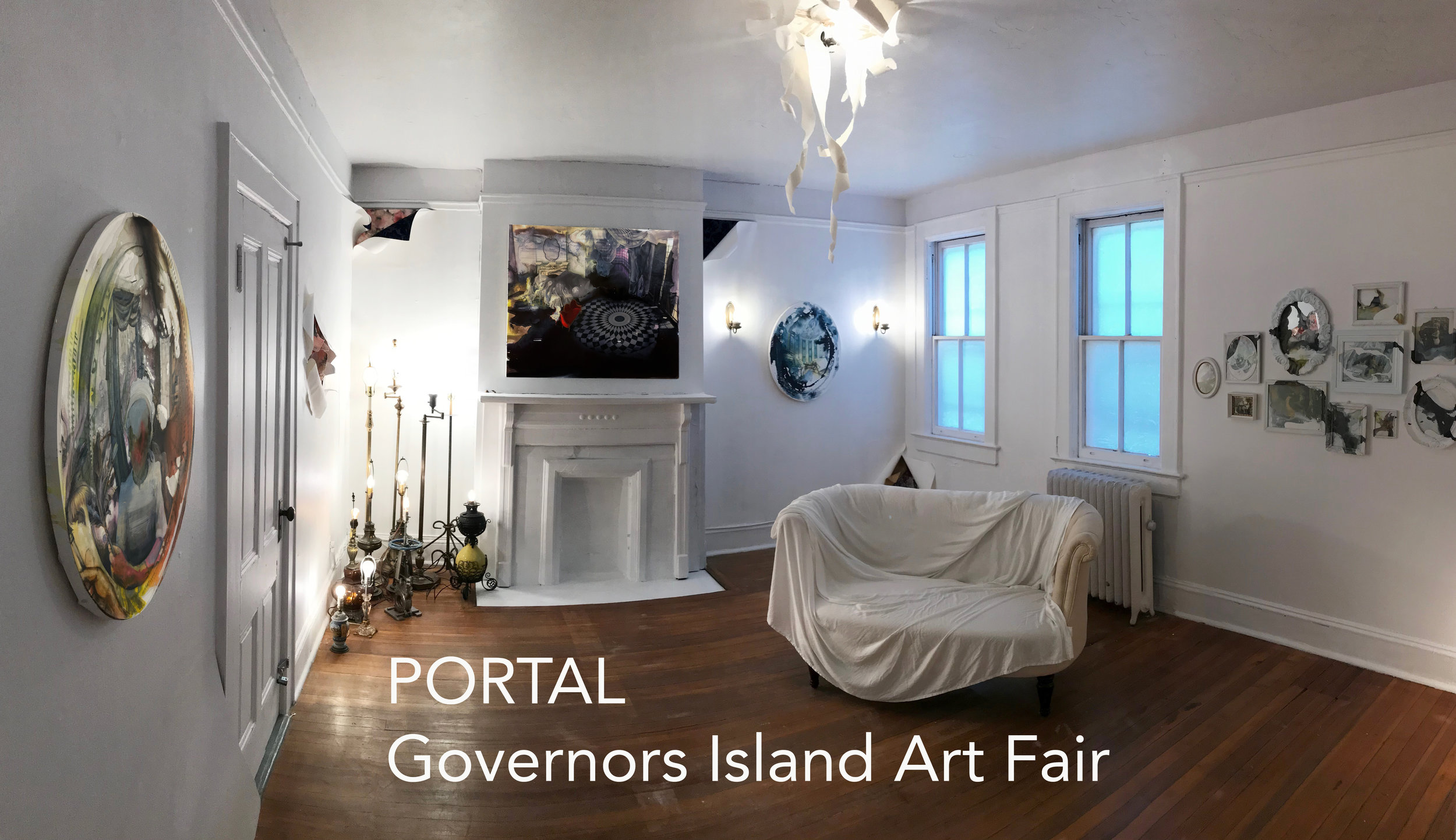 My work is included in  PORTAL: Governors Island Art Fair  run by 4Heads. I have an installation of new paintings in Colonel's Row, building 405B 2nd Floor. Opening Saturday August 31st until 9pm and on view weekends in September.