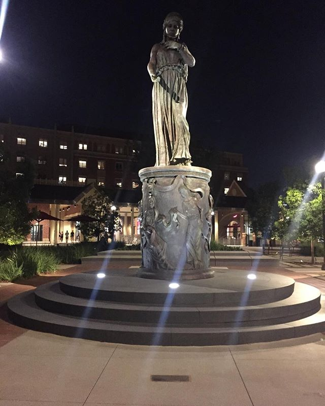 My son just sent me a photo of the sculpture at night