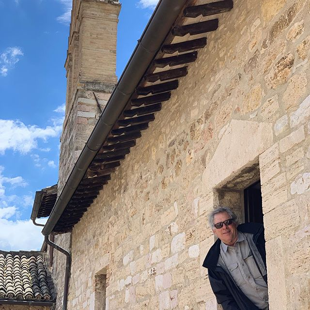 Here I am at San Damiano in Assisi a couple of months ago.