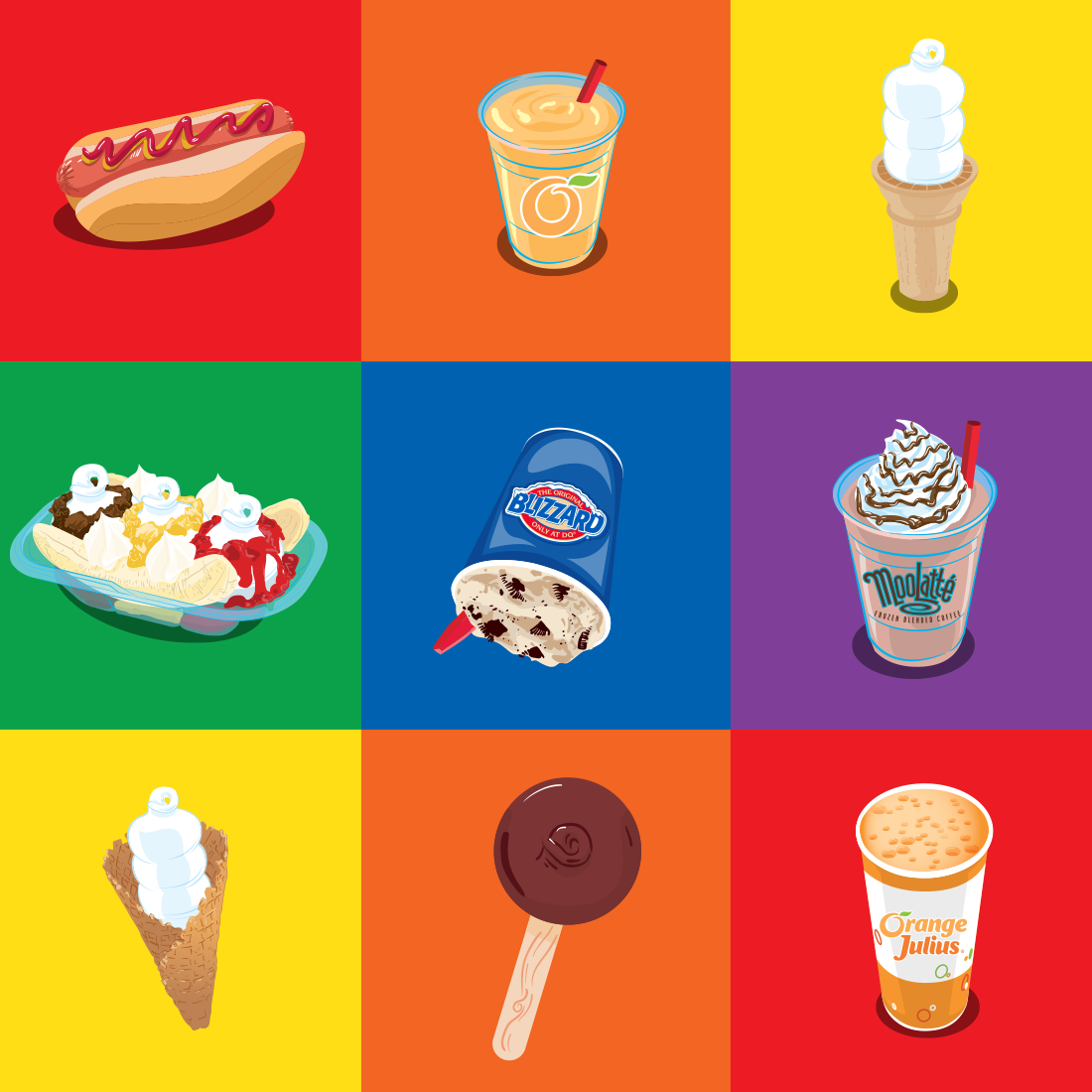 International Dairy Queen Product illustration