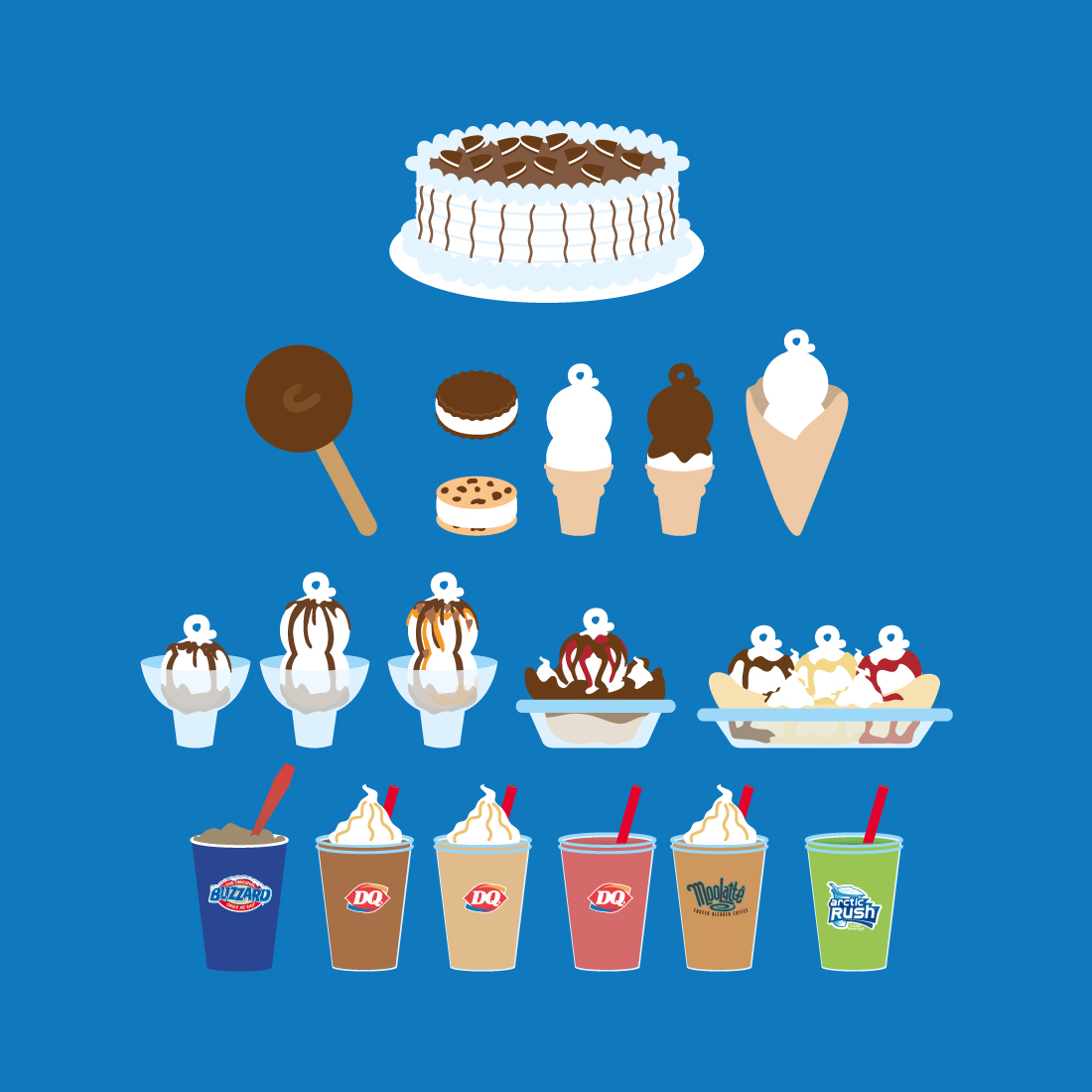 Product illustration For Dairy Queen
