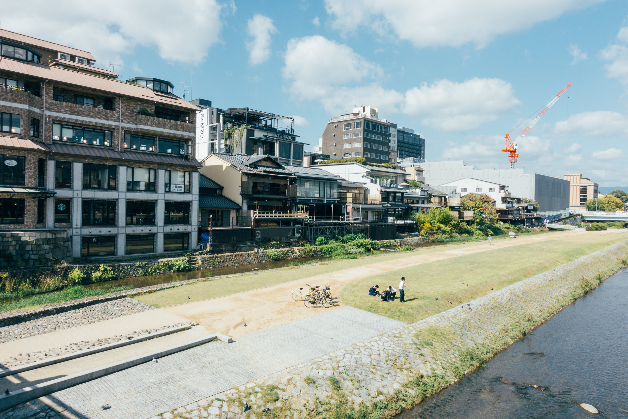 Kamogawa; A river that runs through Kyoto right along the major arteries of the city