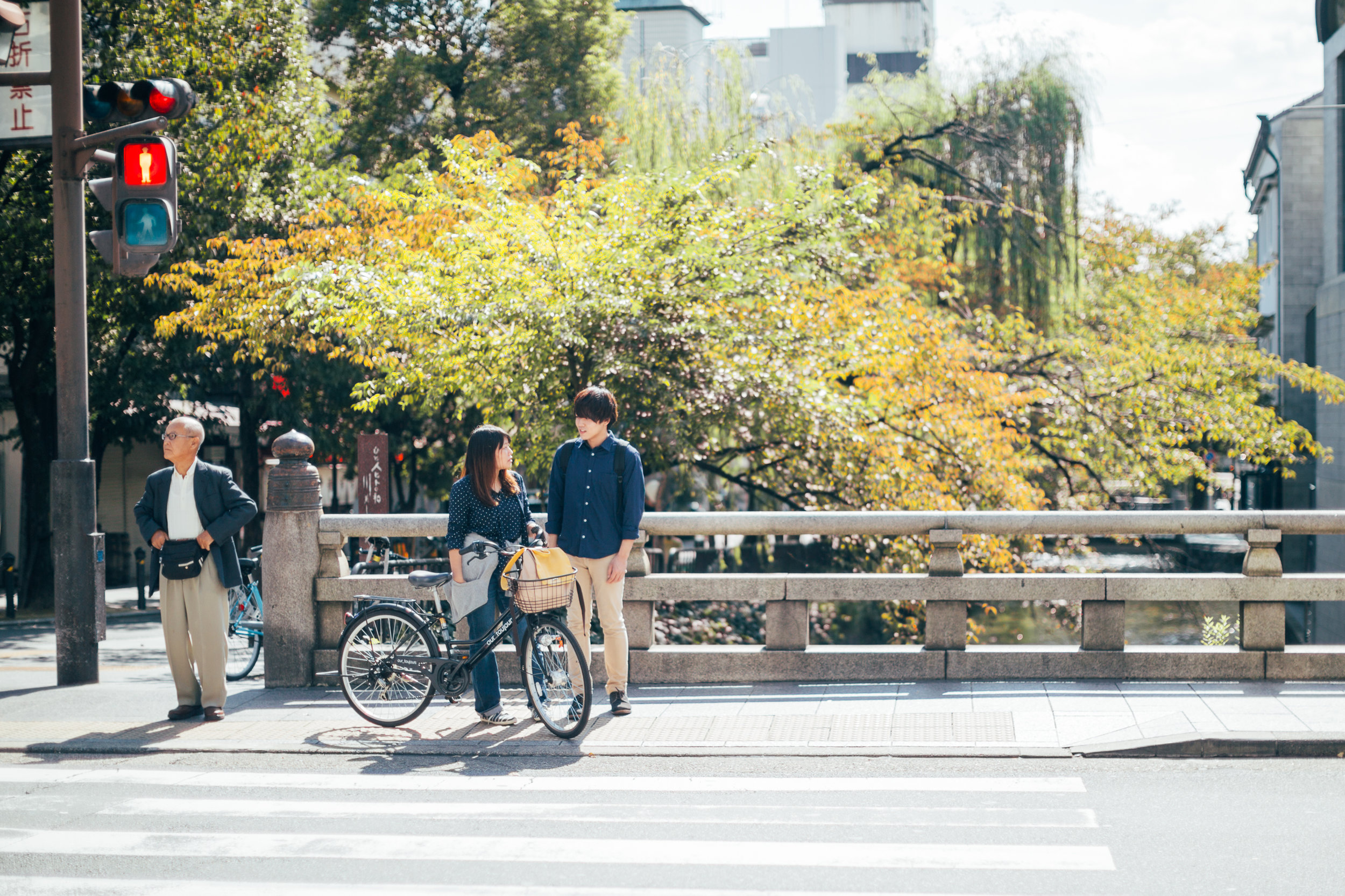 Bikes are plentiful in Kyoto. The flat landscape of the city and the well maintained roads are probably the major factors in this.