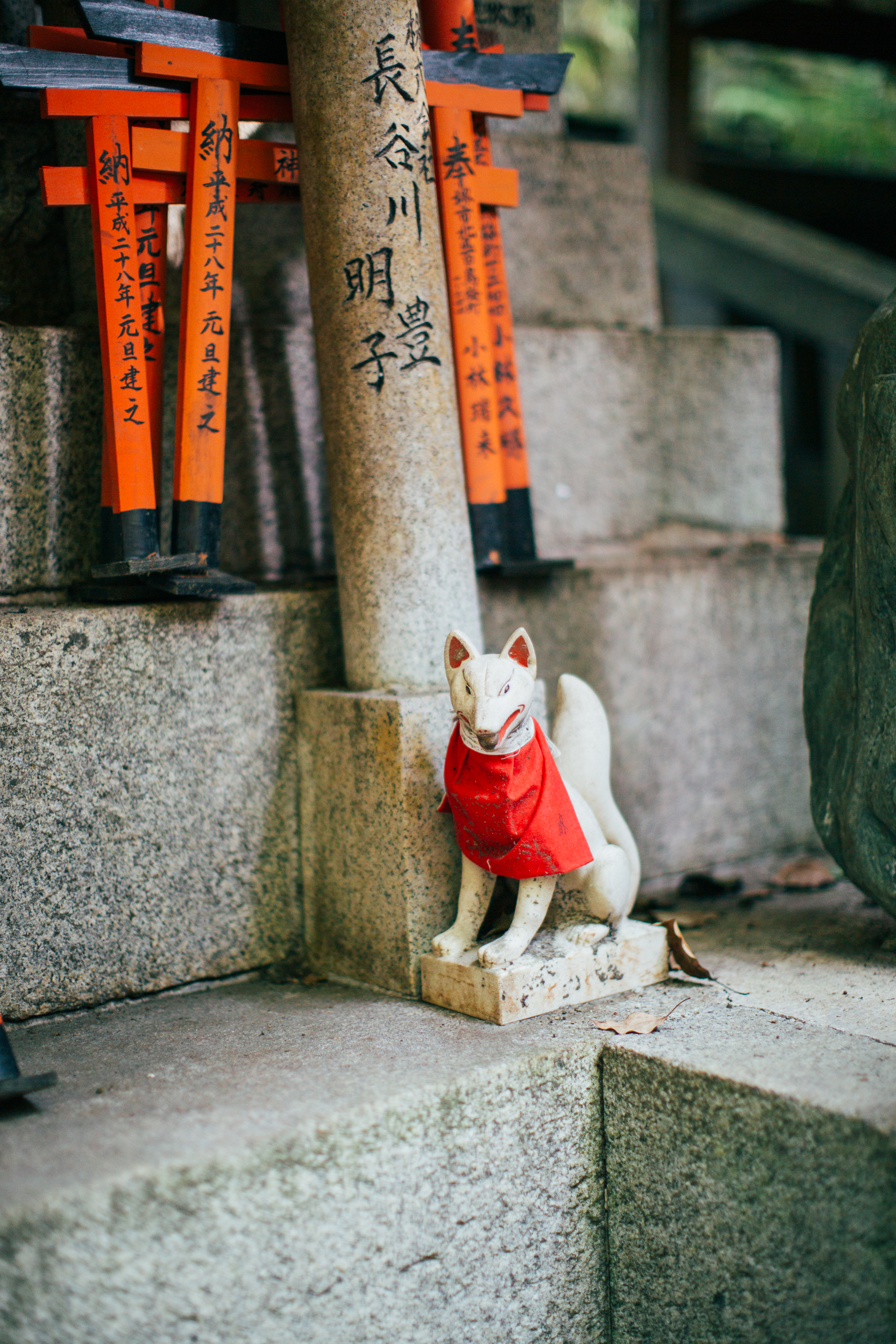 Unsurprisingly, aside from the many tori gates, the shrine is rife with statues and figures of foxes.