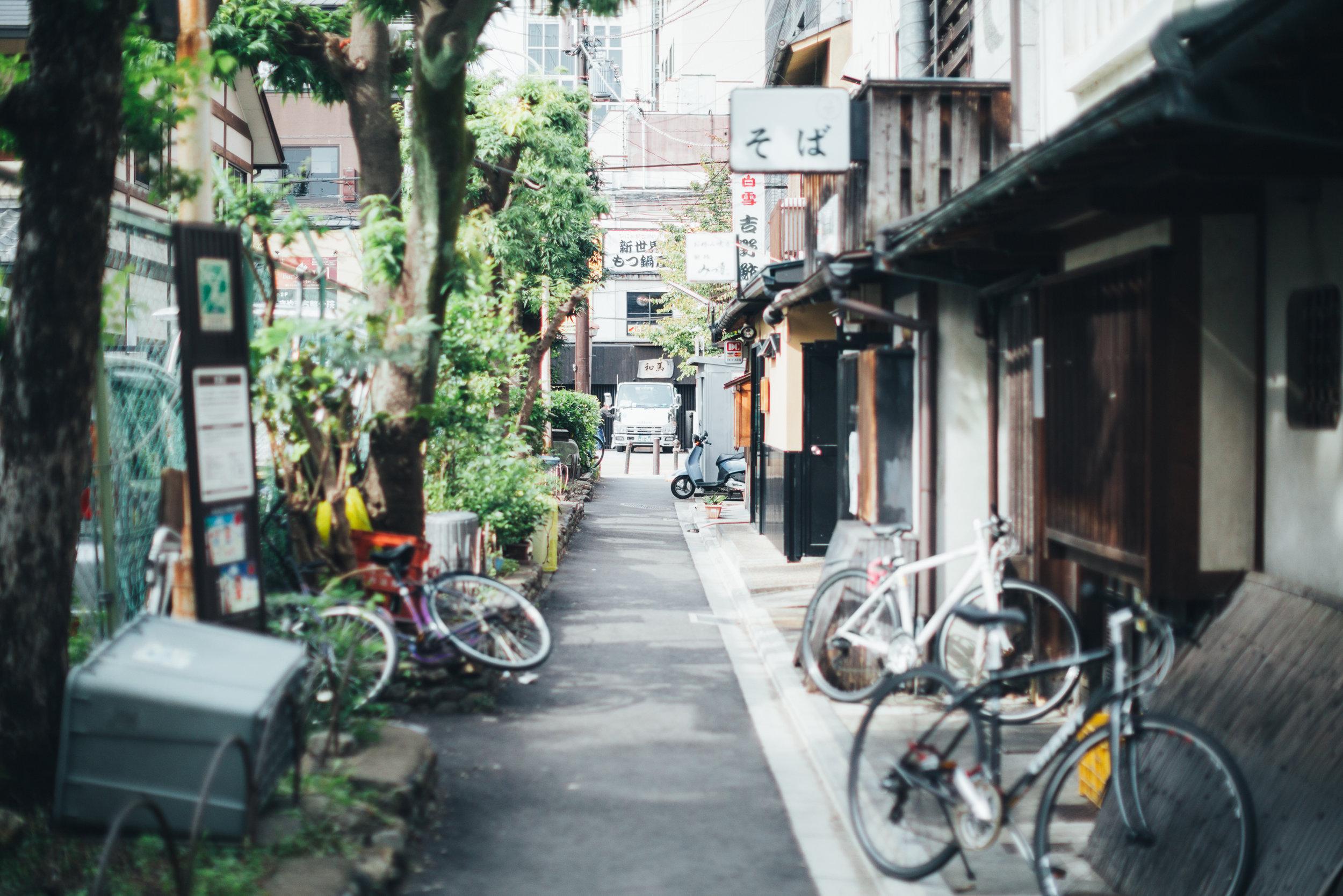Bikes everywhere.