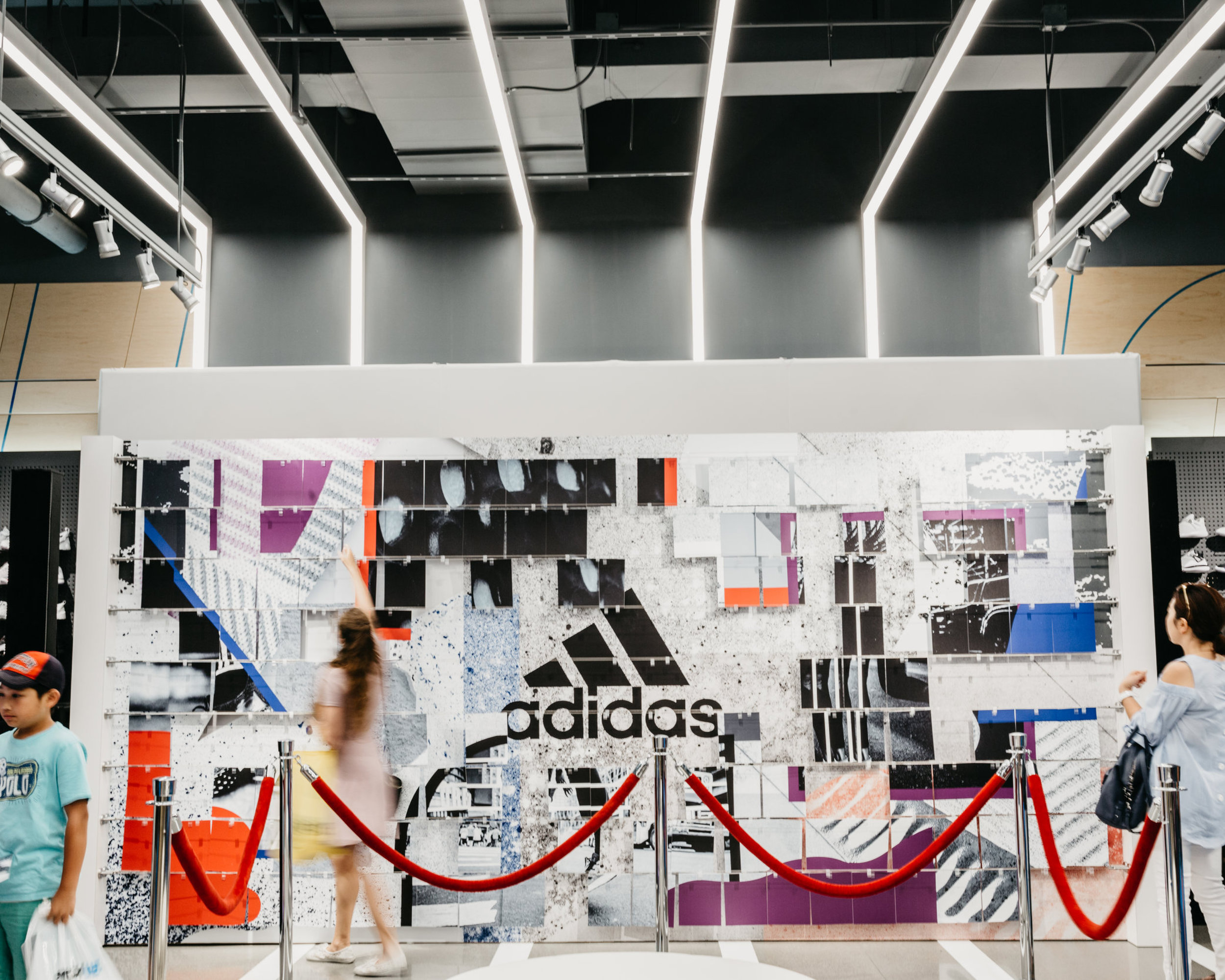 Client:  ASK Agency  for Adidas Artwork by  Chad Kouri  and  Veronica Corzo-Duchardt  Photo by  Tom Bender  Chicago, Illinois