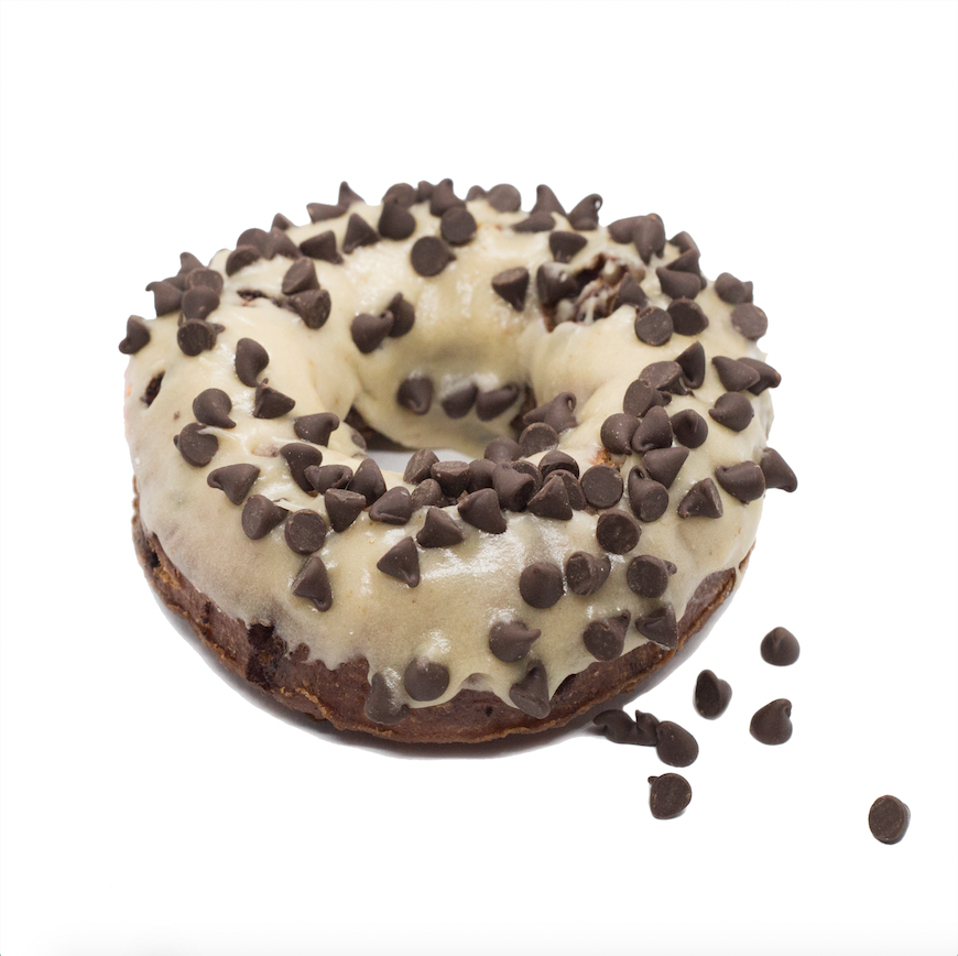 Chocolate Chip Cookie Dough  - cookie dough brioche with chocolate chips and a salty sweet brown sugar glaze