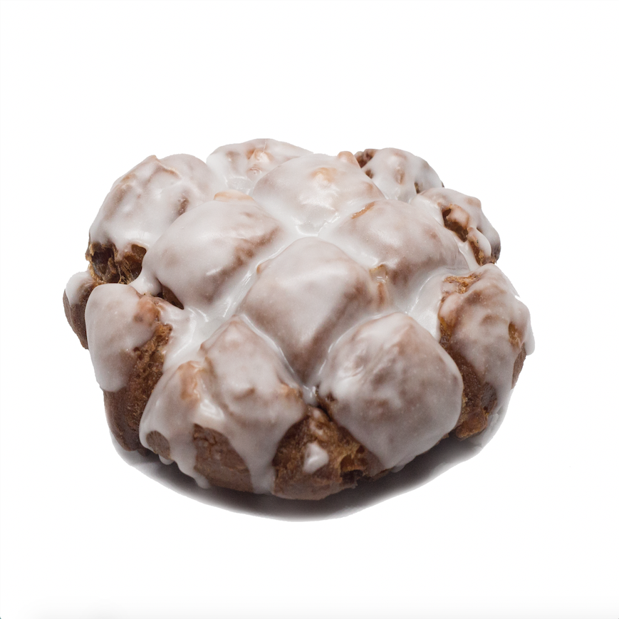 Apple Fritter  - cinnamon brioche with bits of apple and apple icing