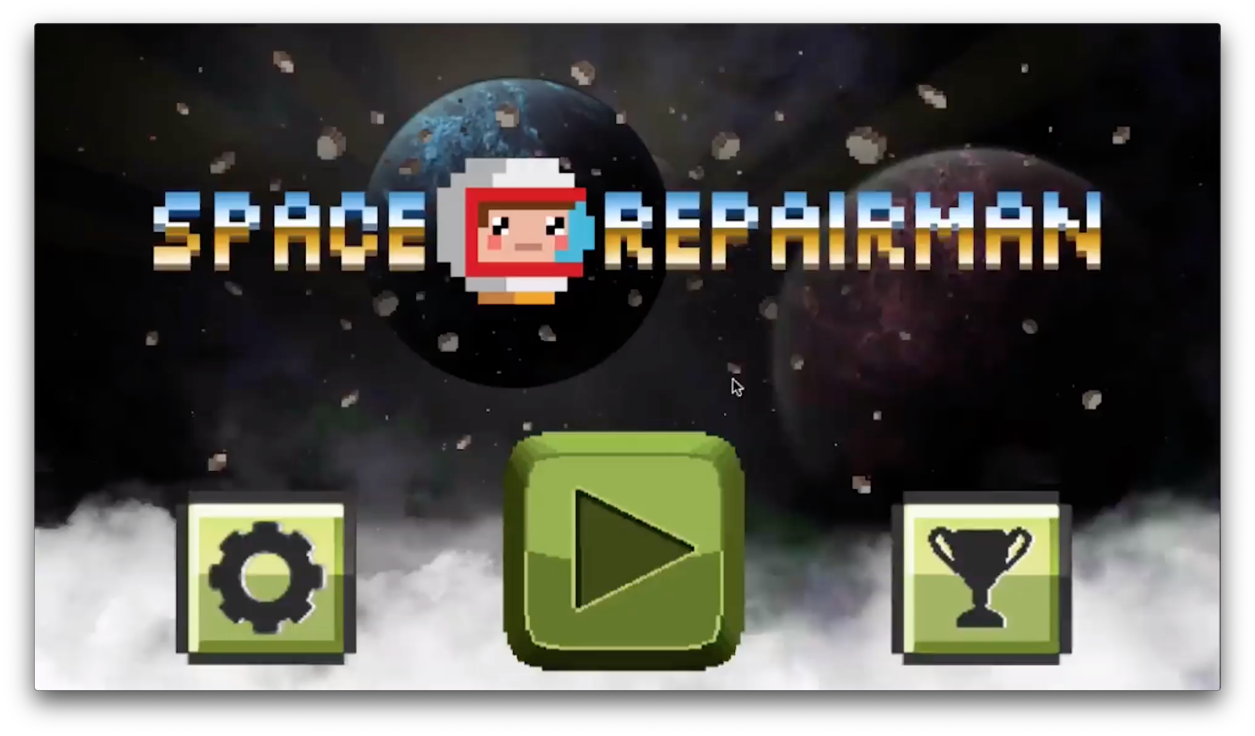Space Repairman main menu