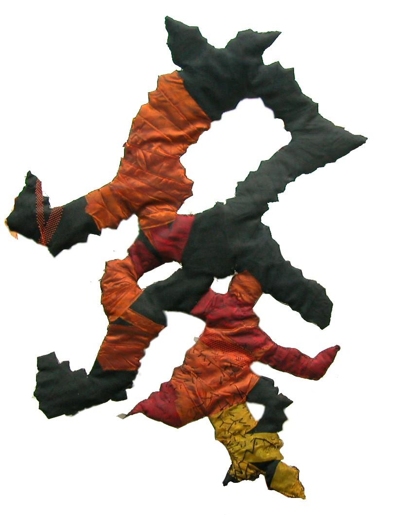 Custo (2002). Fabric & wires.