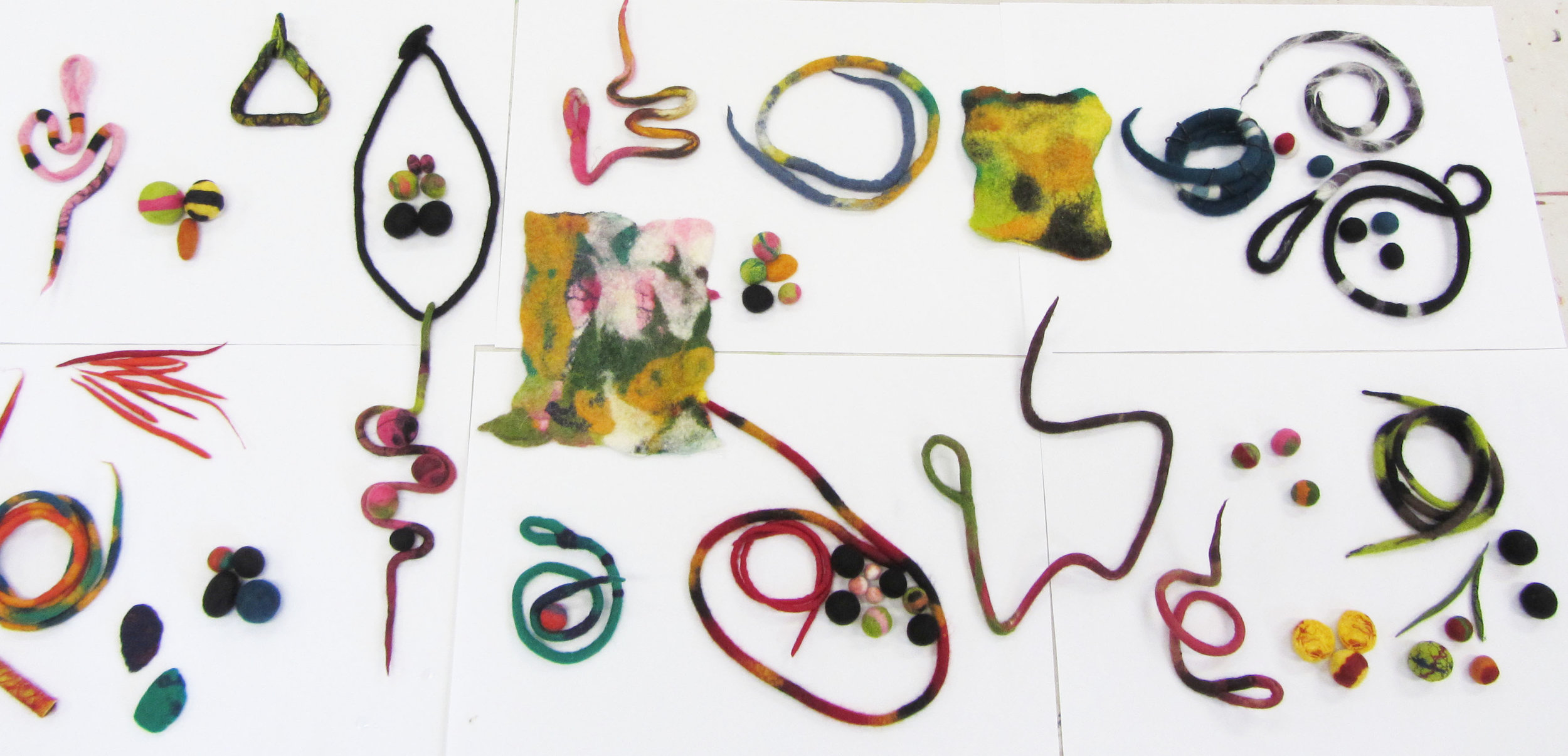 Participants' outcomes from a felting workshop