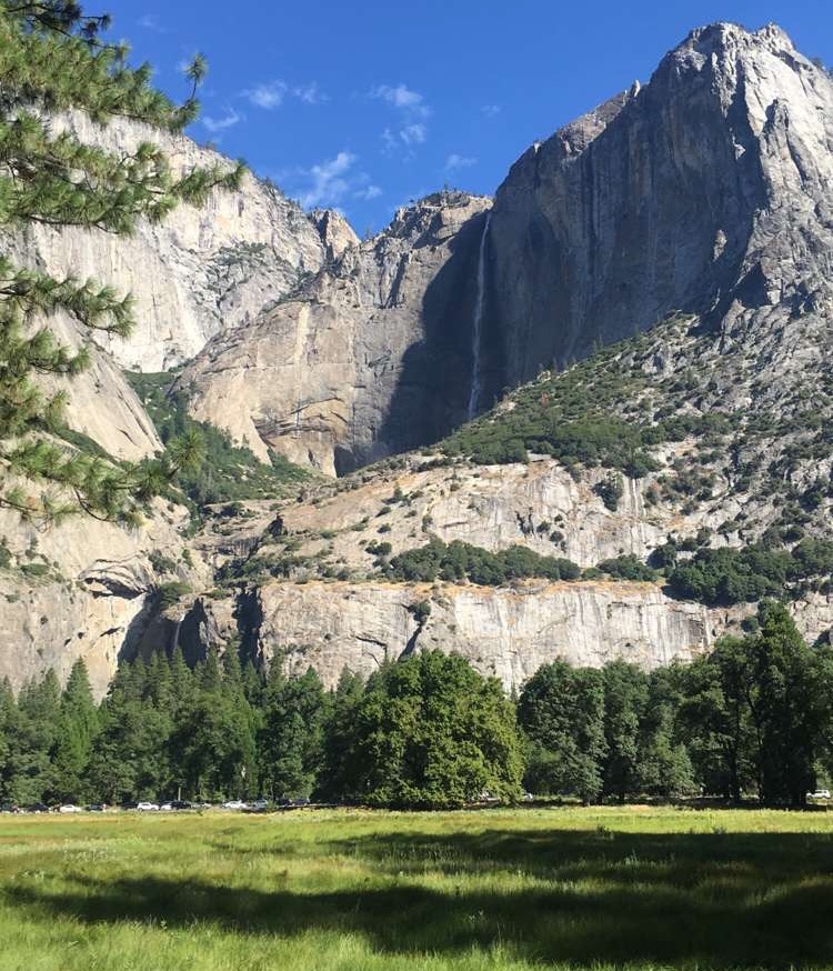 Yosemite Valley and Yosemite Falls in the Distance