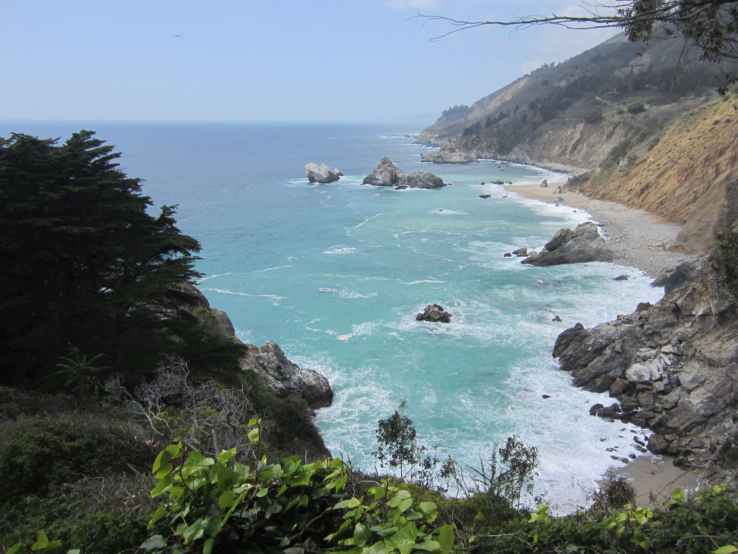 Coastline view at Julia Pfeiffer Burns State Park
