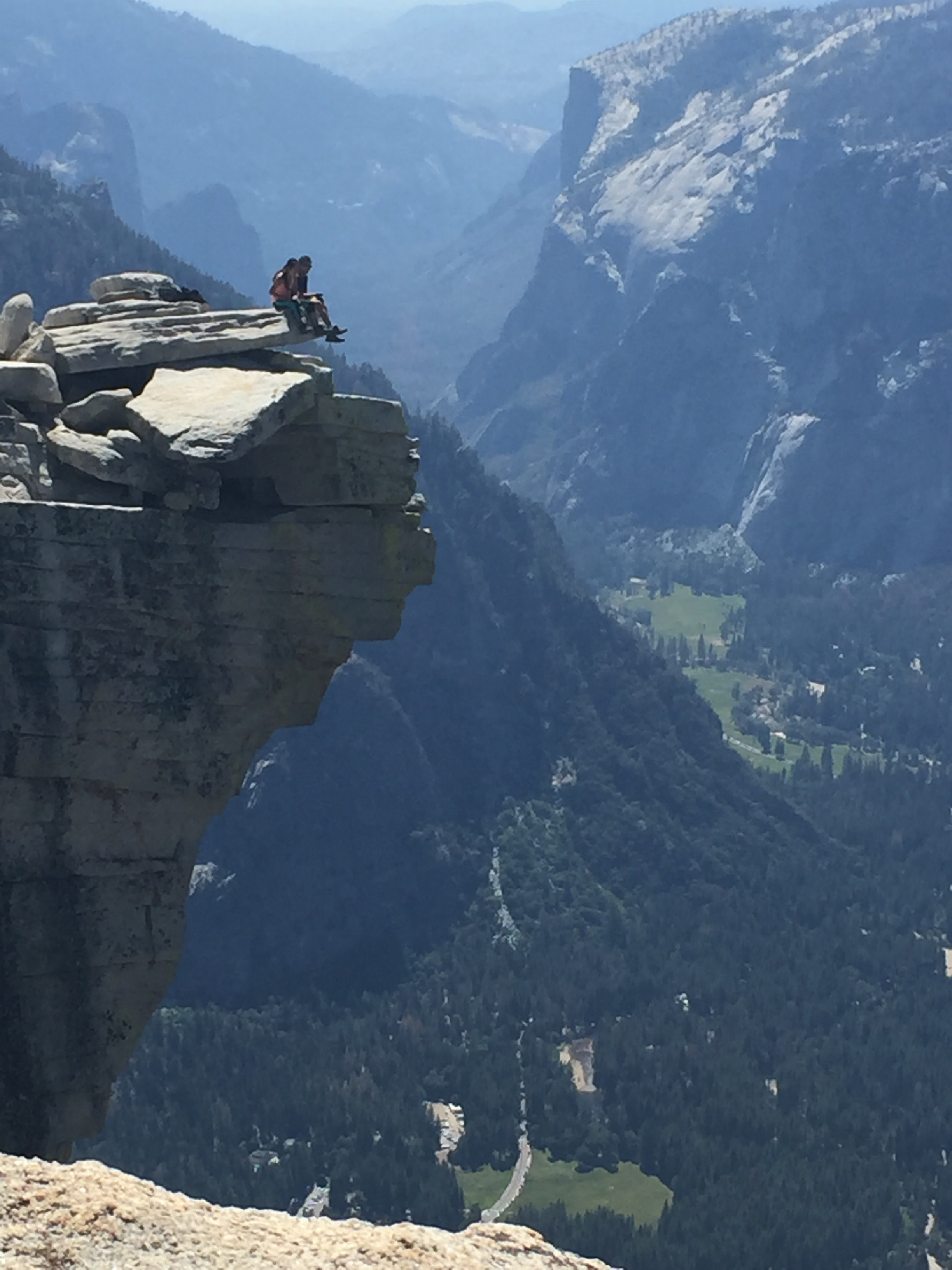 The Visor at the top of  Half Dome  and Yosemite Valley down below