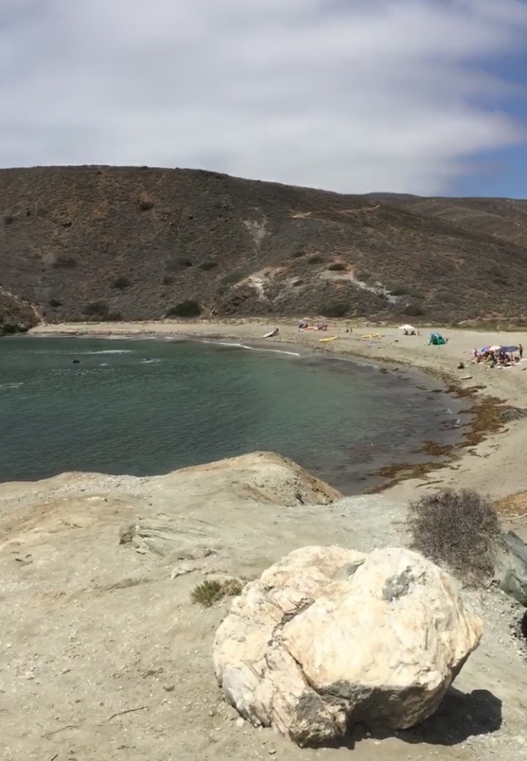 Little Harbor beach from Whale's Tail (this is where we hiked to)